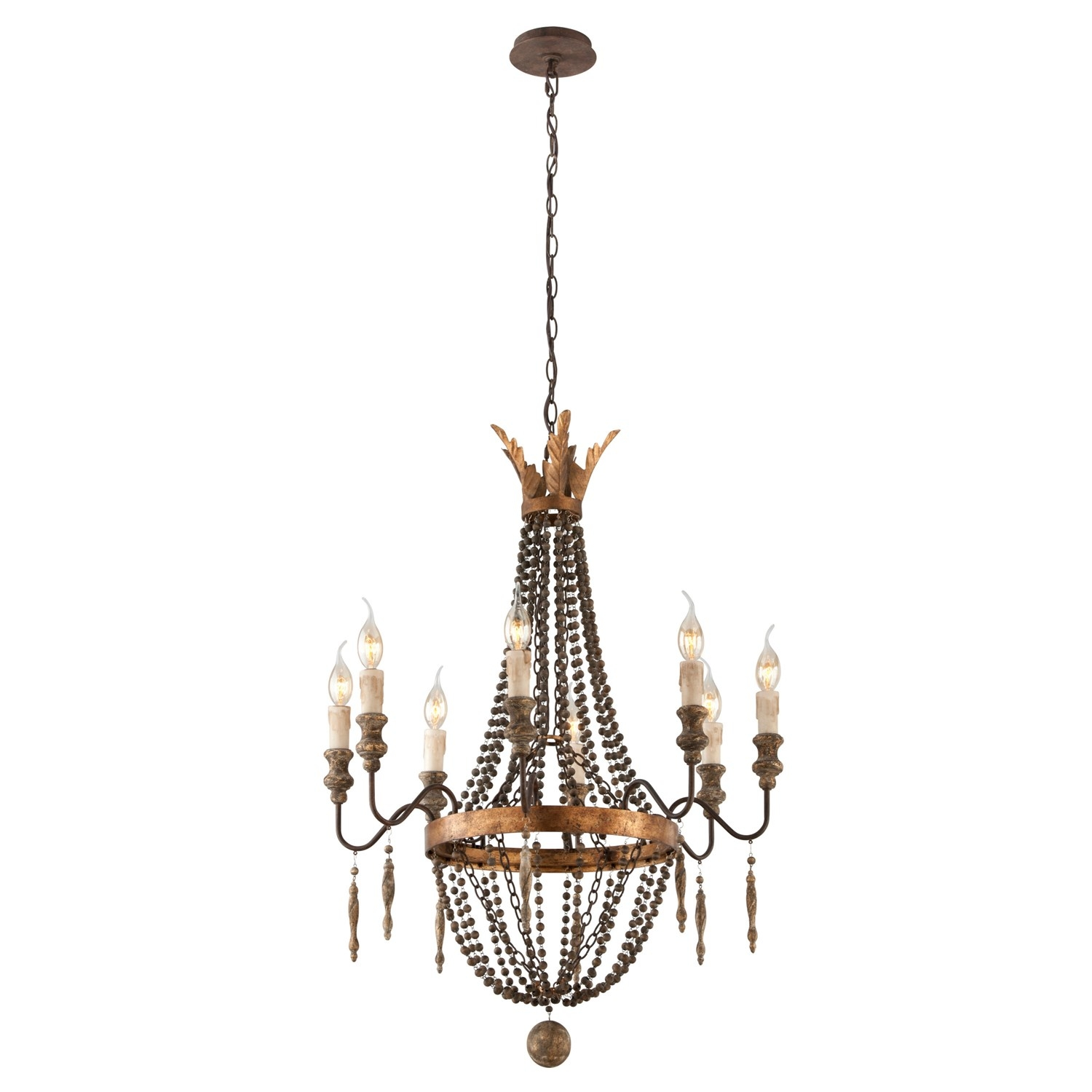 Troy Lighting F3535 Delacroix 8 Light Small Chandelier In French Intended For Small Bronze Chandelier (Image 15 of 15)