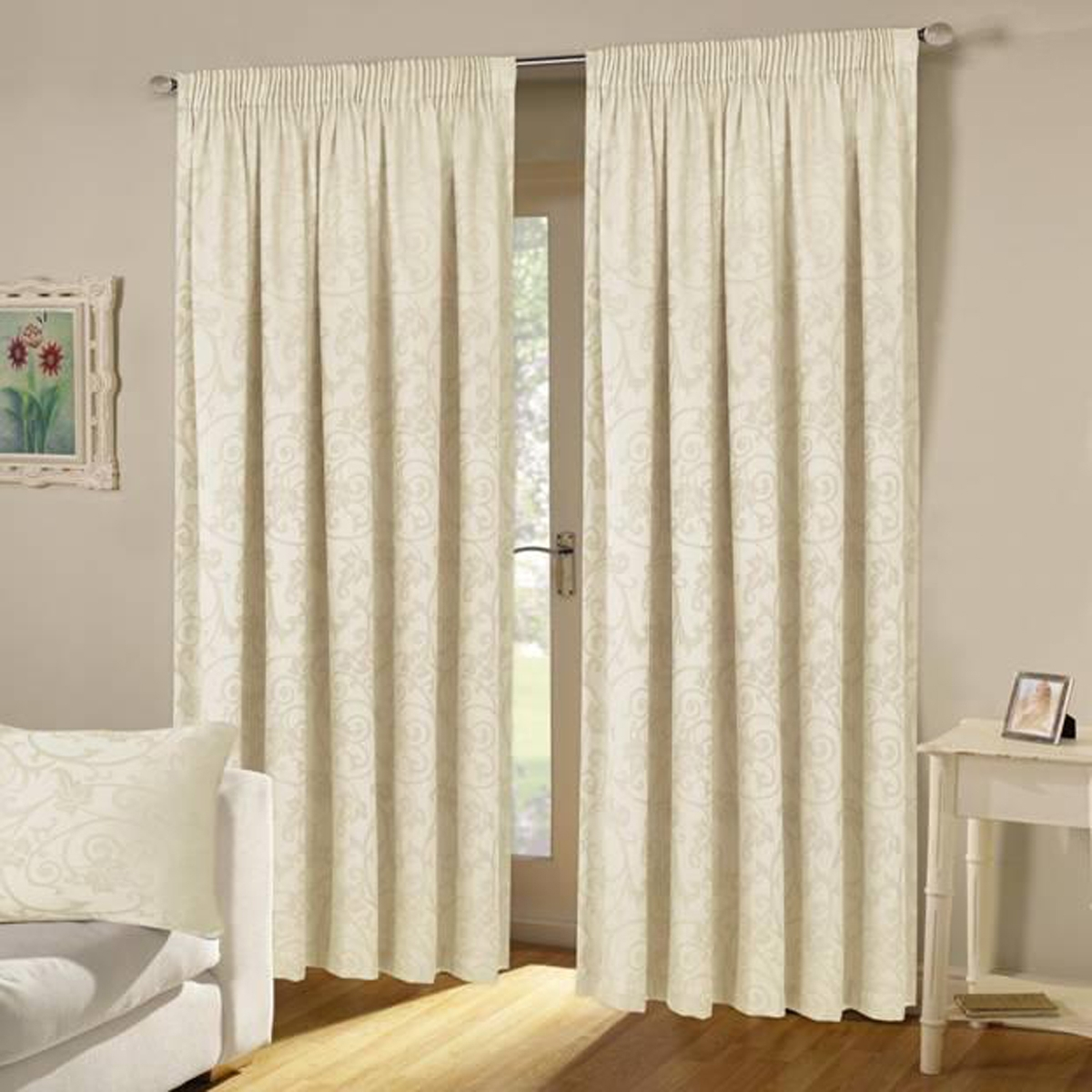 Turin Lined Curtains In Cream Free Uk Delivery Terrys Fabrics Pertaining To Cream Lined Curtains (Image 15 of 15)