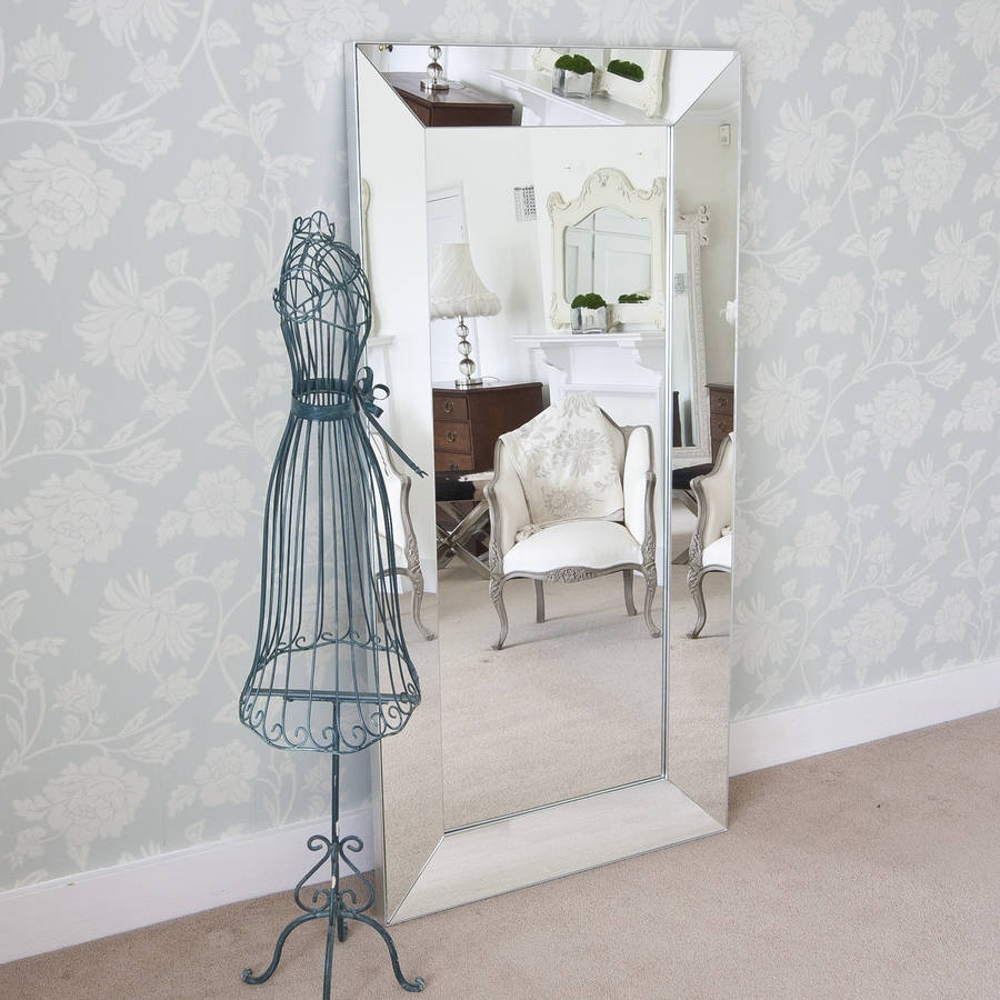 Tuscany All Glass Large Mirror Decorative Mirrors Online Regarding Decorative Full Length Mirror (Image 15 of 15)
