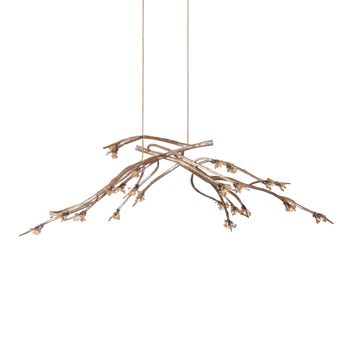 Twig Chandelier Large Brown 8 Light Iron Twig Chandelier Tree Pertaining To Branch Chandeliers (Image 15 of 15)