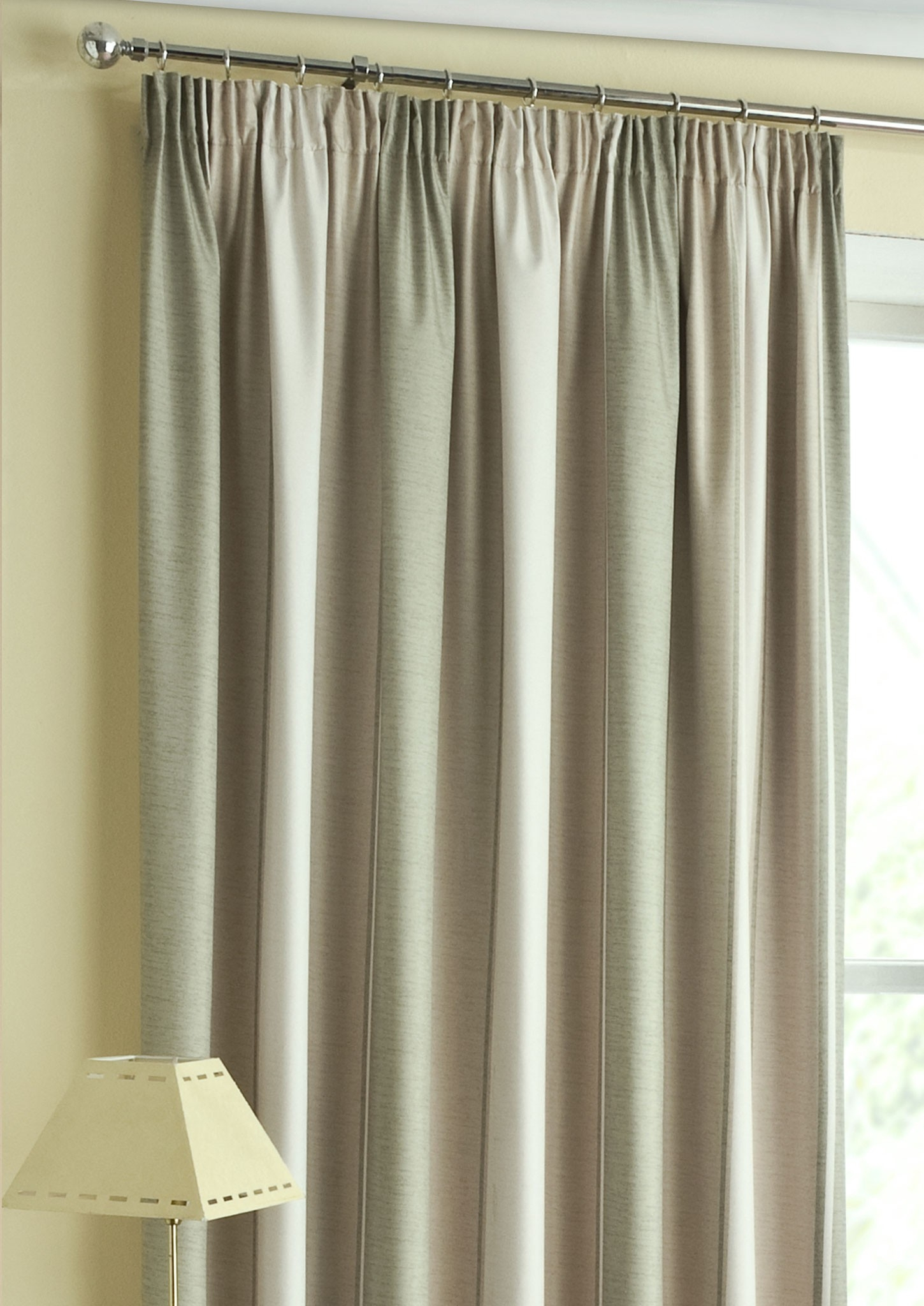 Twilight Green Thermal Pencil Pleat Curtains Inside Pencil Pleat Blackout Curtains (Image 12 of 15)
