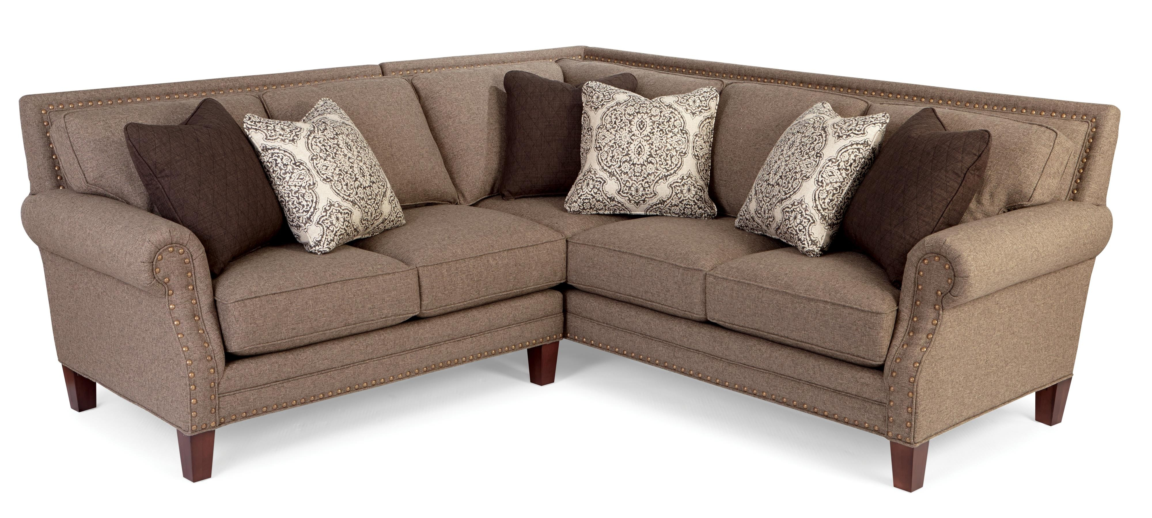 Two Piece Sectional Sofa With Rolled Arms And Light Brass With Craftmaster Sectional Sofa (View 12 of 15)