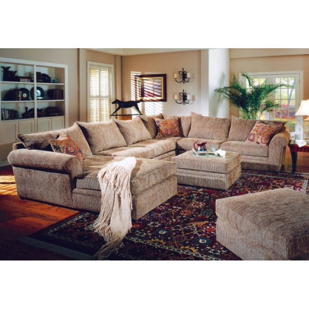 U Shaped Couch Westwood Casual U Shaped Sectional Sofa Craft Within Chenille And Leather Sectional Sofa (Image 15 of 15)