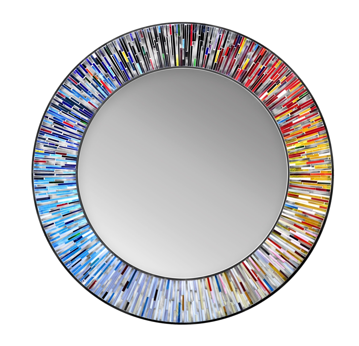 Uk Piaggi Roulette Round Feature Wall Mirror At Contemporary Heaven For Round Contemporary Mirror (Image 14 of 15)
