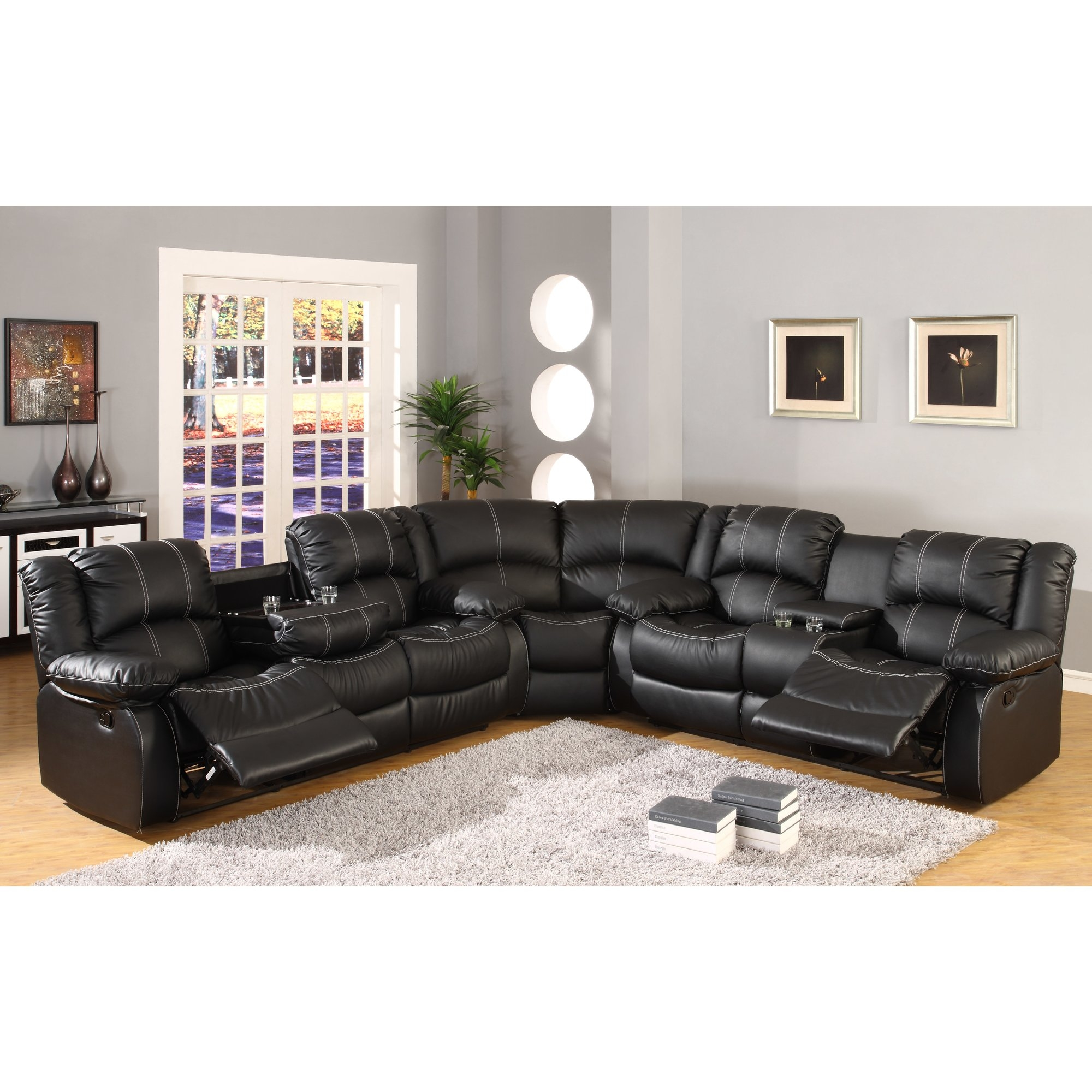 Ultimate Accents Reclining Curved Sectional Reviews Wayfair Intended For Curved Sectional Sofa With Recliner (Image 15 of 15)