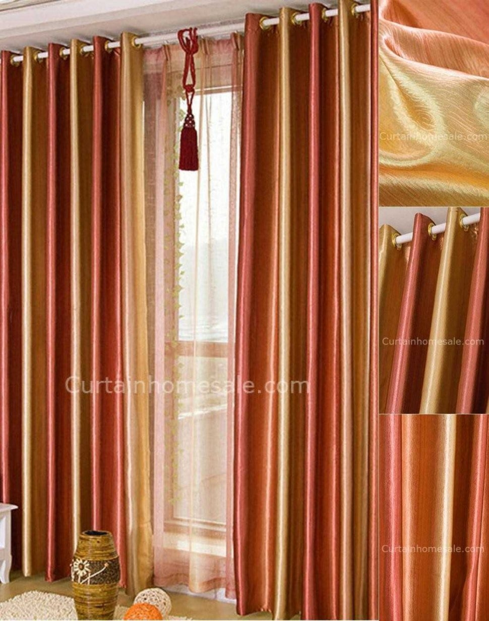 Unique Curtains How Drape A Scarf Valance Overstockcom Product Regarding Orange Silk Curtains (Image 15 of 15)