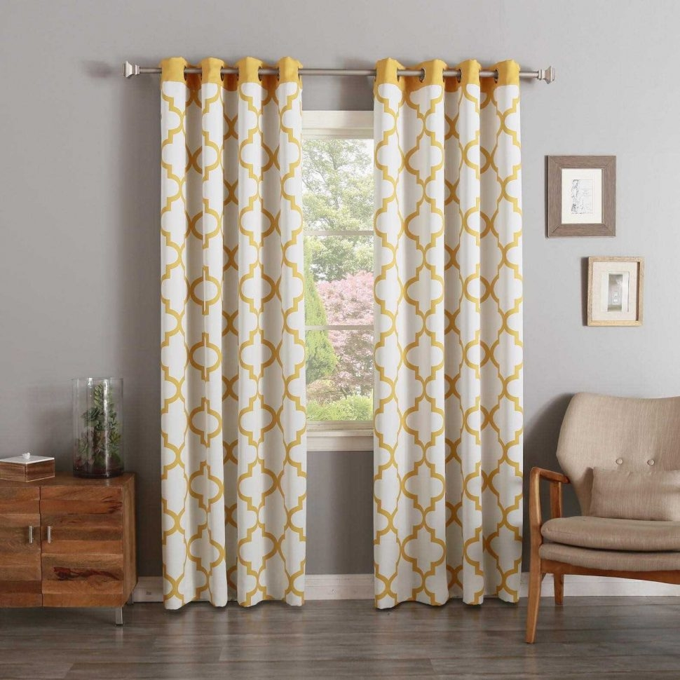 Unique Curtains Pier Imports Window Moroccan Tile Pattern Throughout Moroccan Tile Curtains (Image 14 of 15)