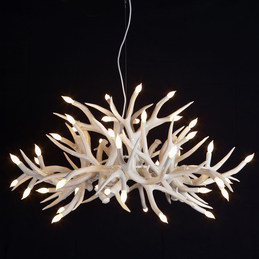 Unique Decorative Antler Chandelier Designs Furniture Decor Trend Intended For Modern Antler Chandelier (Image 14 of 15)