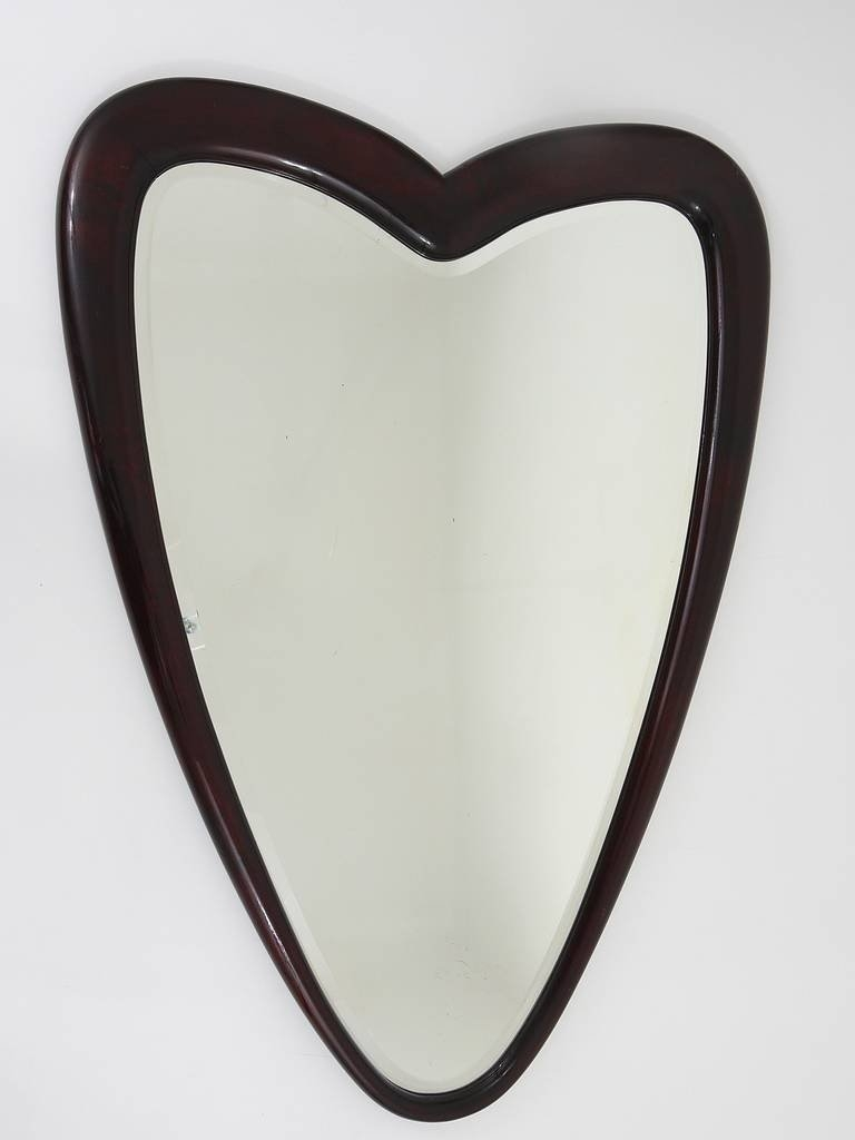 Unusual Heart Shaped Wall Mirror Italy 1940s At 1stdibs With Regard To Unusual Shaped Mirrors (Photo 11 of 15)