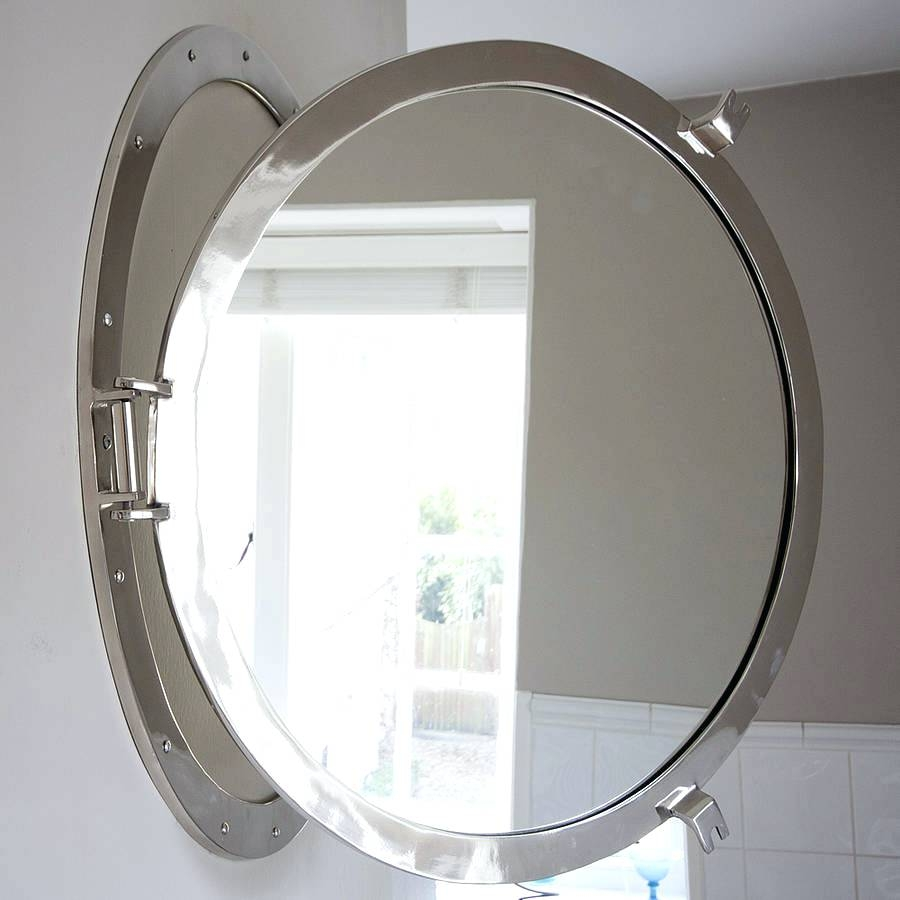 Unusual Shaped Mirror Jurji Row Decorative Ship Porthole Chrome Pertaining To Unusual Shaped Mirrors (Image 14 of 15)