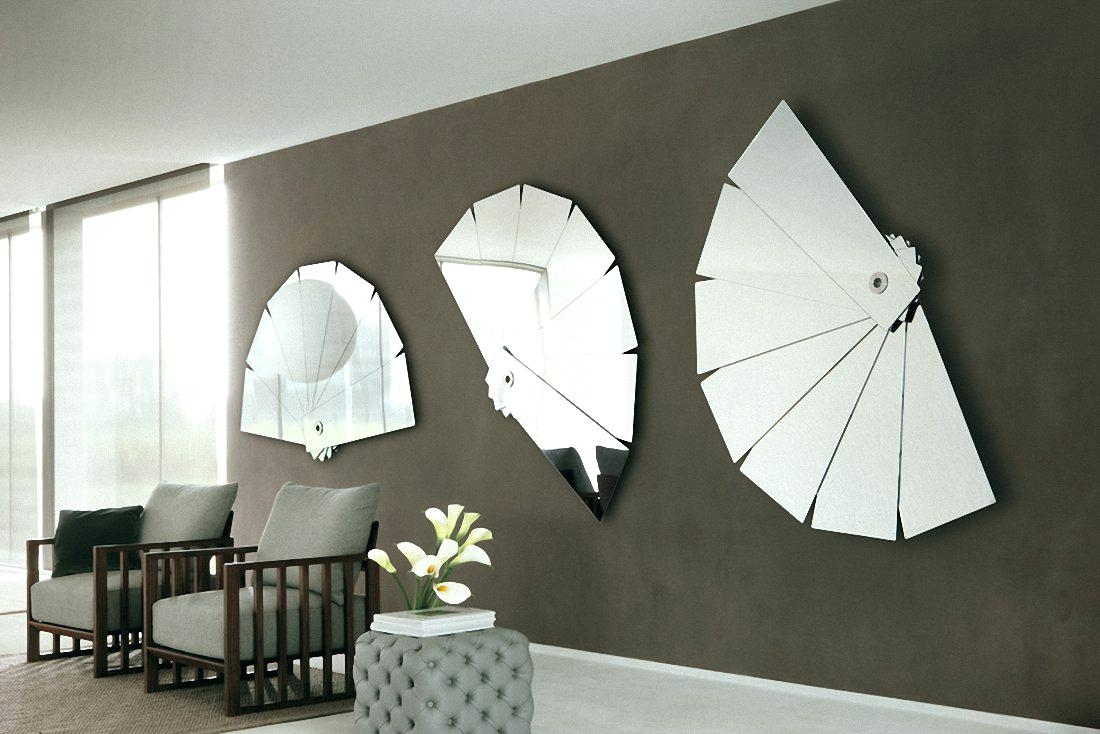 Upcycling Design Mirrors Framed With Reclaimed Woodlarge Black With Large Contemporary Mirror (Image 15 of 15)