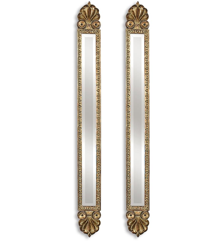 Uttermost 11202 B Juniper Antique Gold Mirrors Set Of 2 Regarding Antique Gold Mirrors (View 7 of 15)