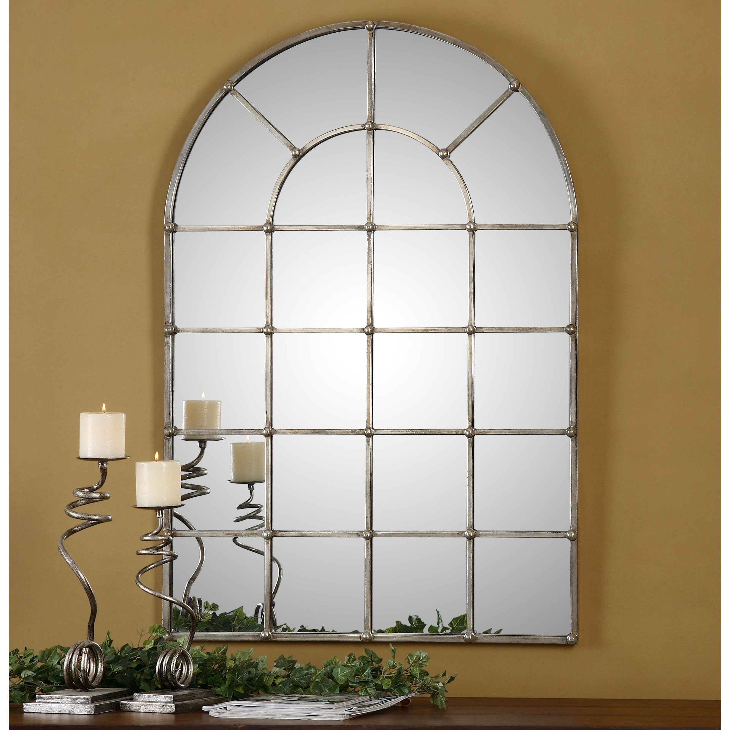 Uttermost Barwell Arch Window Mirror Reviews Wayfair Stacy With Large Arched Mirrors (Photo 8 of 15)