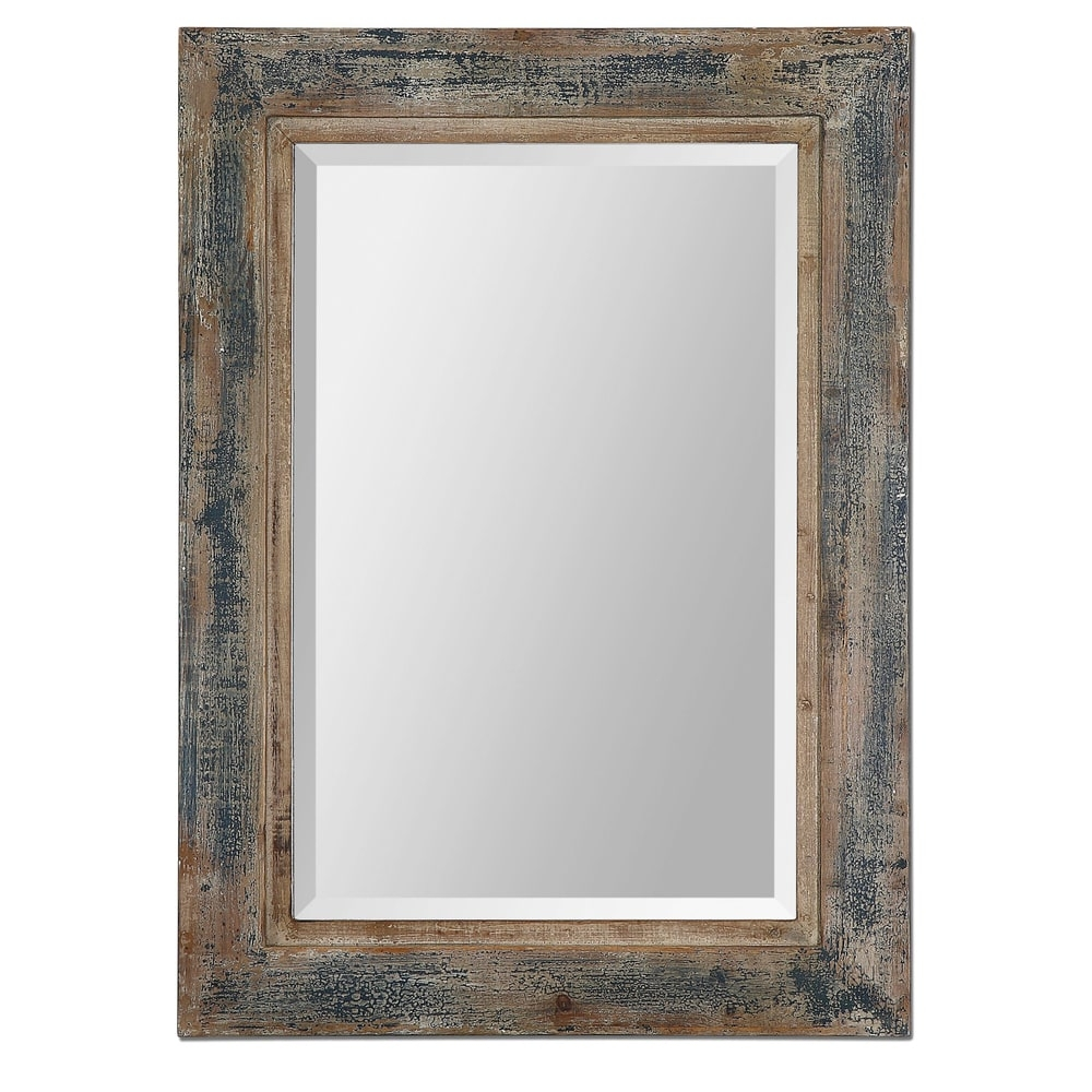 Uttermost Bozeman Distressed Blue Mirror Uttermost Products Intended For Blue Distressed Mirror (Image 13 of 15)