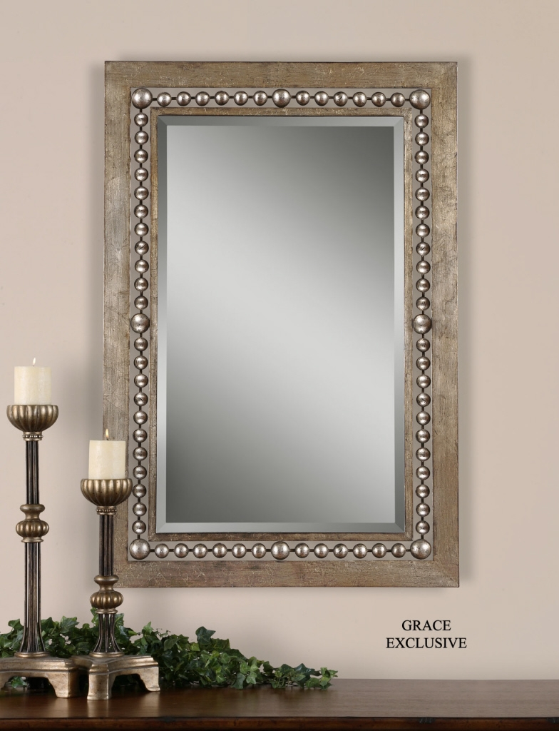 Uttermost Fidda Antique Silver Mirror 13724 Pertaining To Silver Rectangular Mirror (Image 13 of 15)