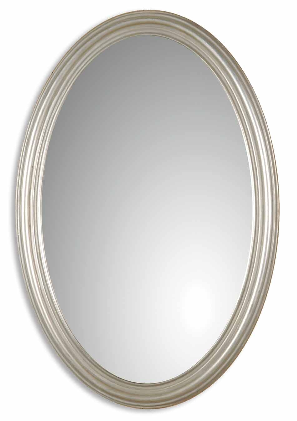 Featured Image of Silver Oval Mirror