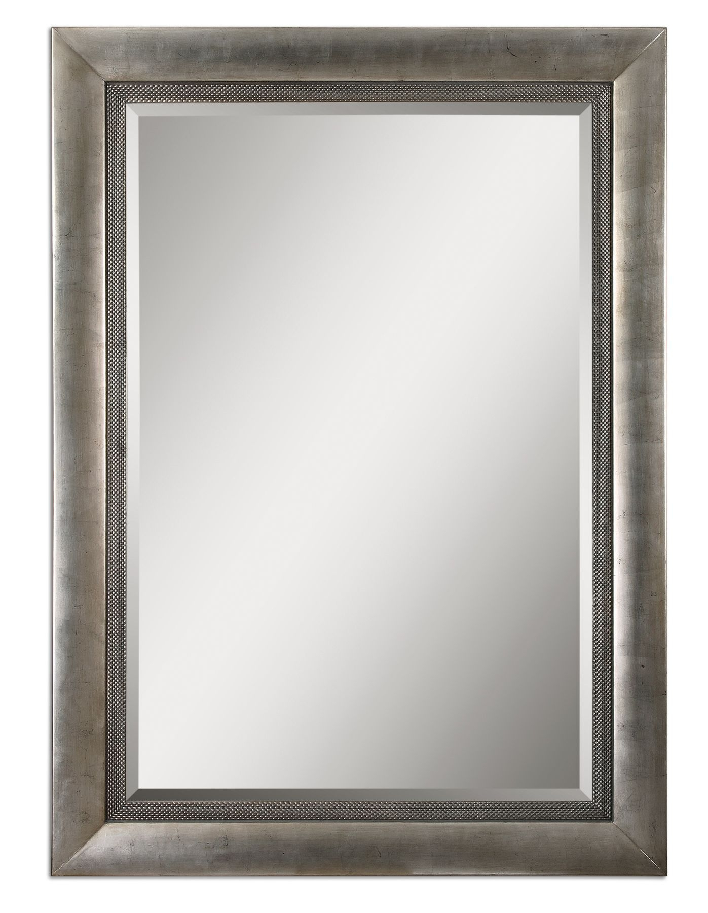 Uttermost Gilford Antique Silver Mirror 14207 Throughout Silver Rectangular Mirror (Image 14 of 15)
