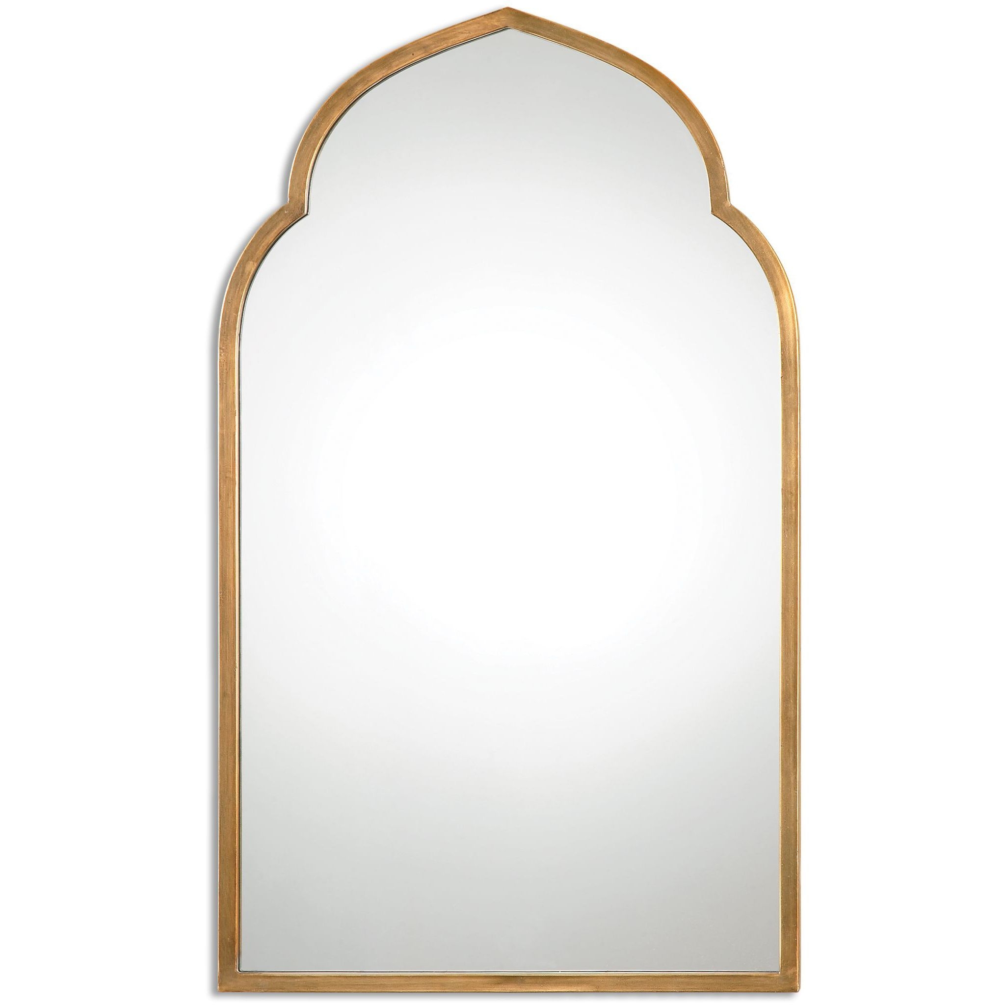 Uttermost Kenitra Gold Arch Decorative Wall Mirror Uttermost For Arched Mirrors Bathroom (Image 15 of 15)