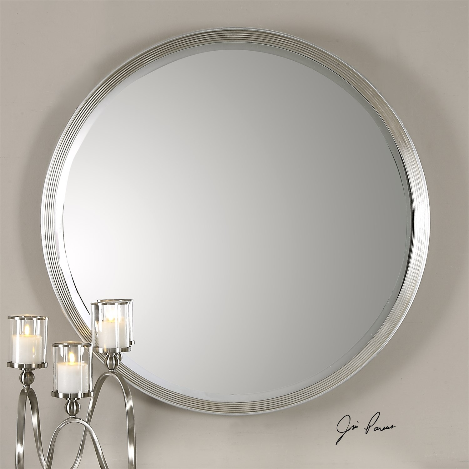 Uttermost Mirrors Homeclick For Round Silver Mirrors (Image 14 of 15)