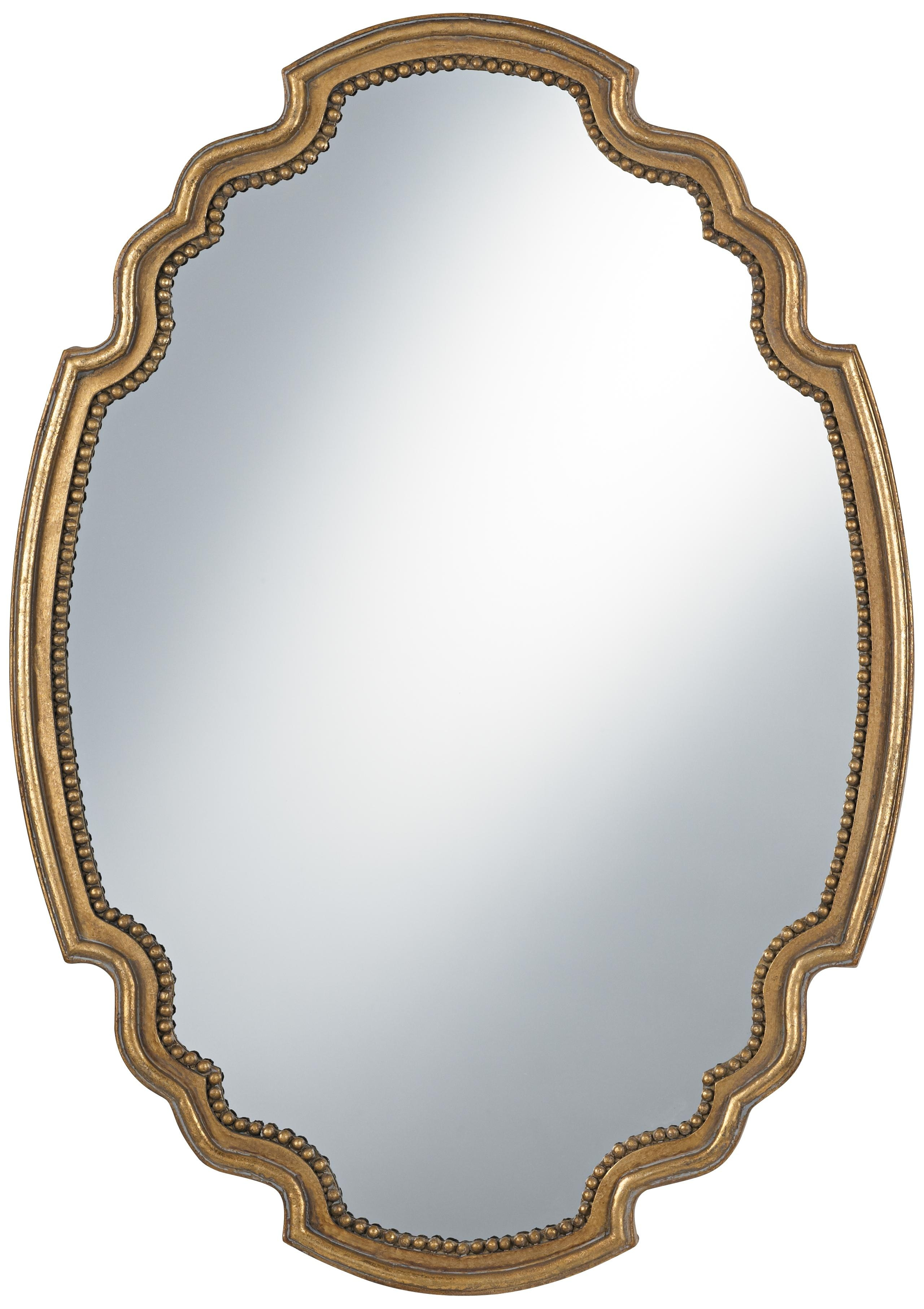 Uttermost Terelle Antique Gold 39 High Oval Wall Mirror For Antique Gold Mirrors (Image 13 of 15)