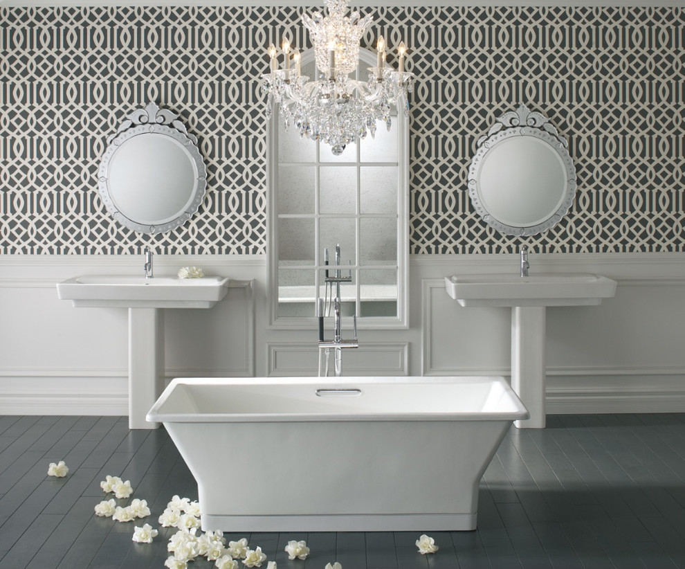 Vanity Idea Within Venetian Mirror Bathroom (Image 13 of 15)