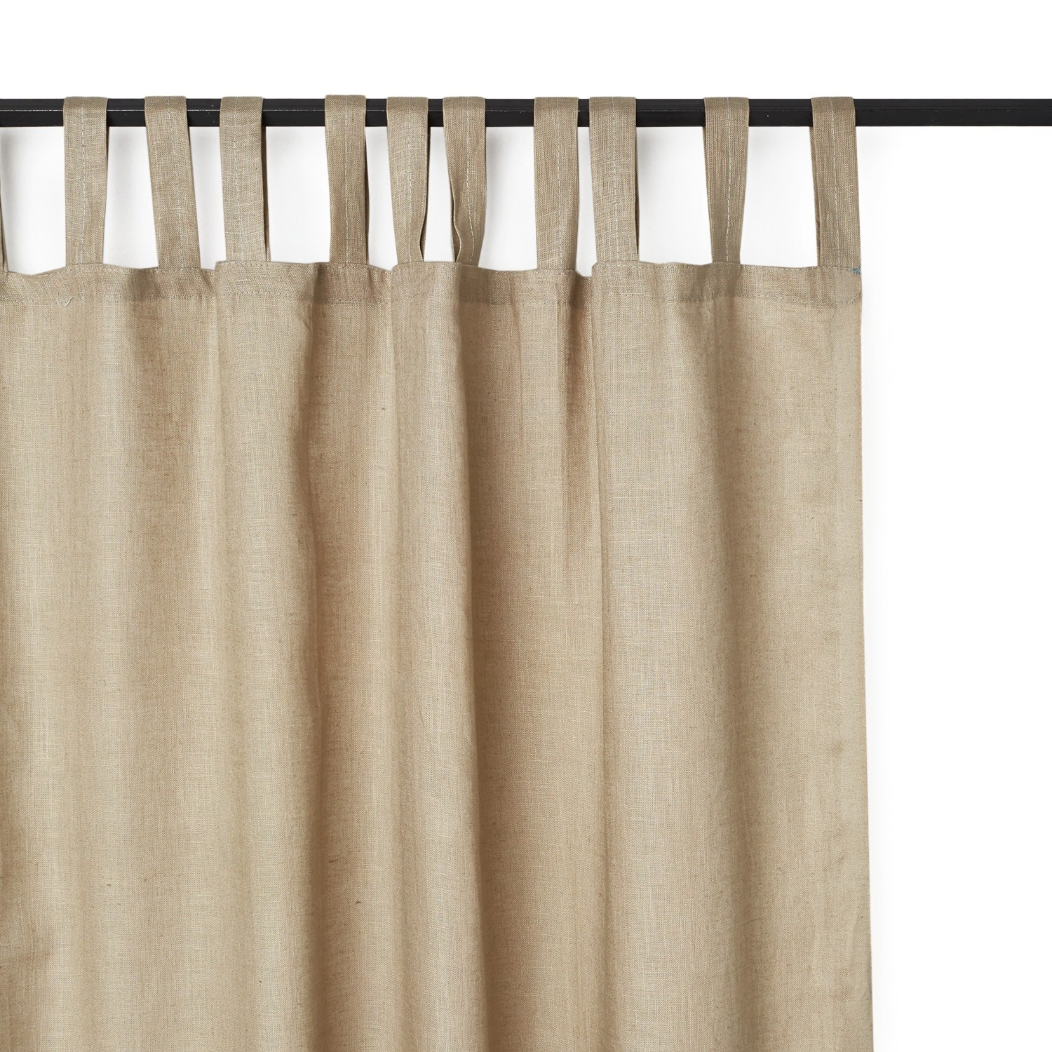 Varanasi Linen Curtain Gray Throughout Plain Linen Curtains (Image 15 of 15)
