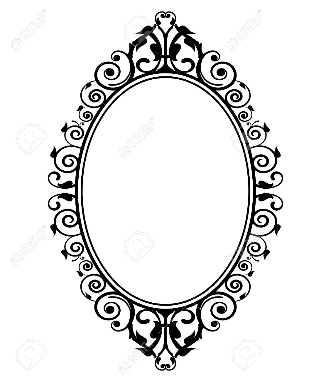 Vector Illustration Of Vintage Mirror Royalty Free Cliparts Pertaining To Black Vintage Mirror (Image 14 of 15)