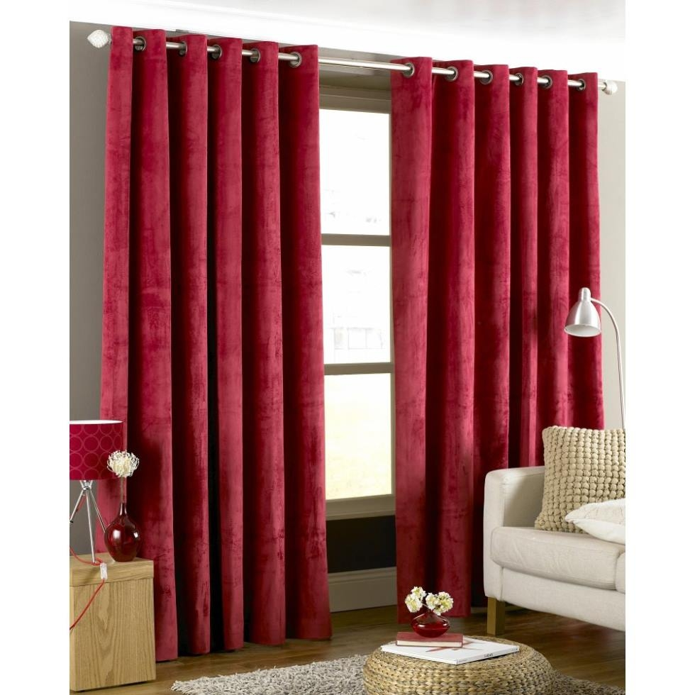 15 Photos Dark Red Velvet Curtains Curtain Ideas