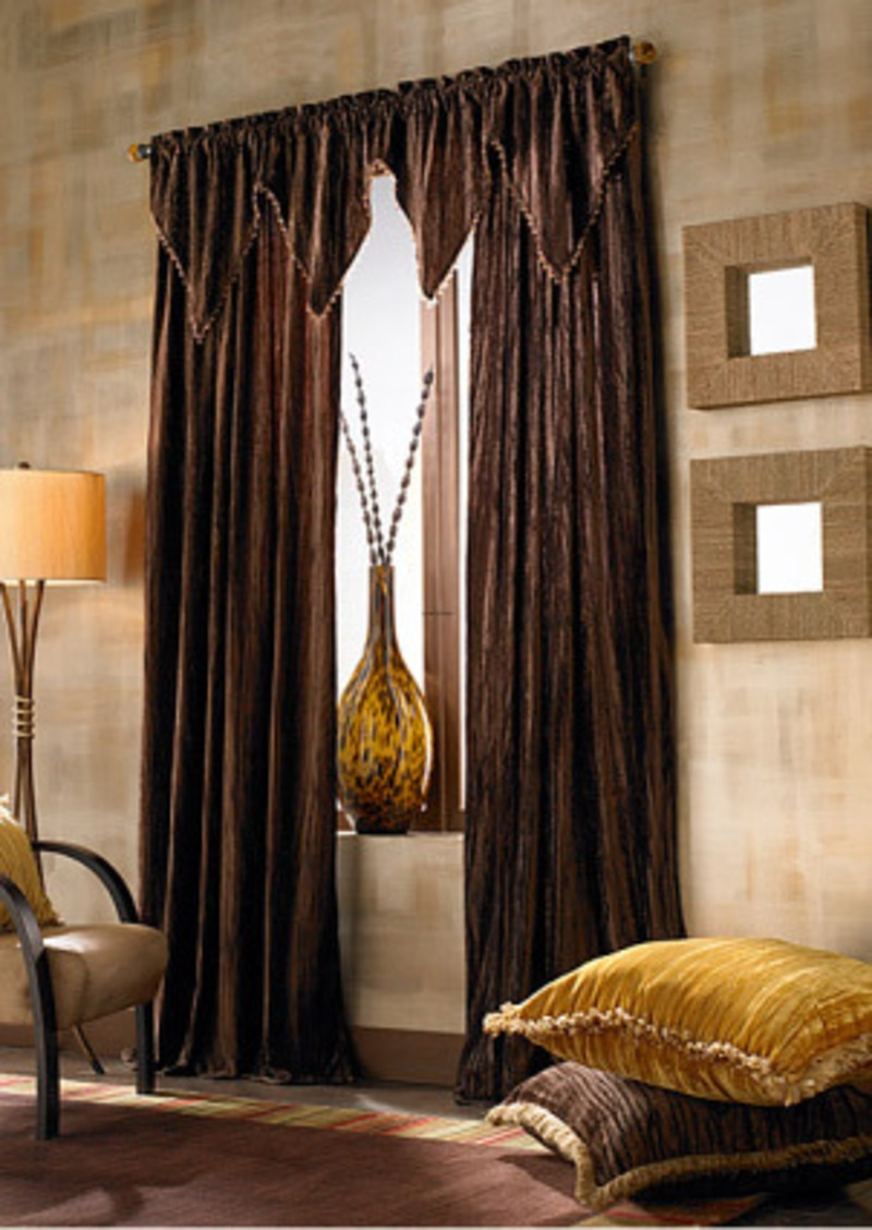 Velvet Curtains Target Curtain Menzilperde For Dark Brown Velvet Curtains (Image 13 of 15)
