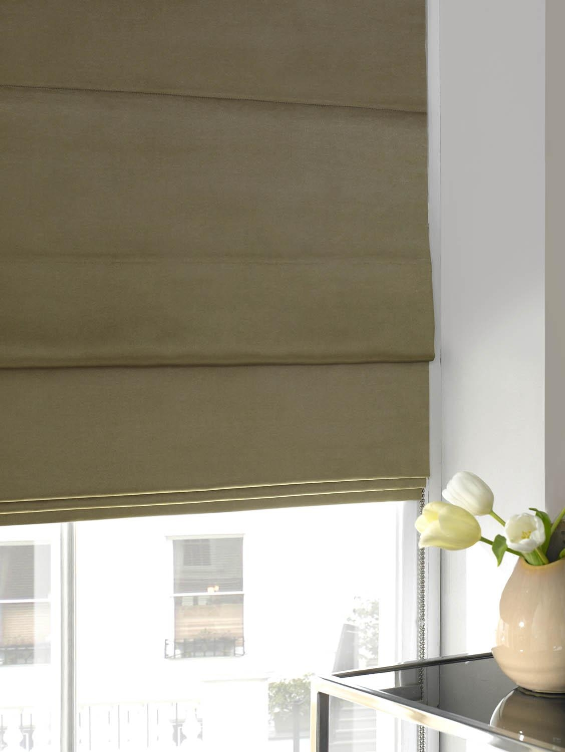 Velvet Roman Blind Gold Free Uk Delivery Terrys Fabrics In Gold Roman Blinds (Image 14 of 15)