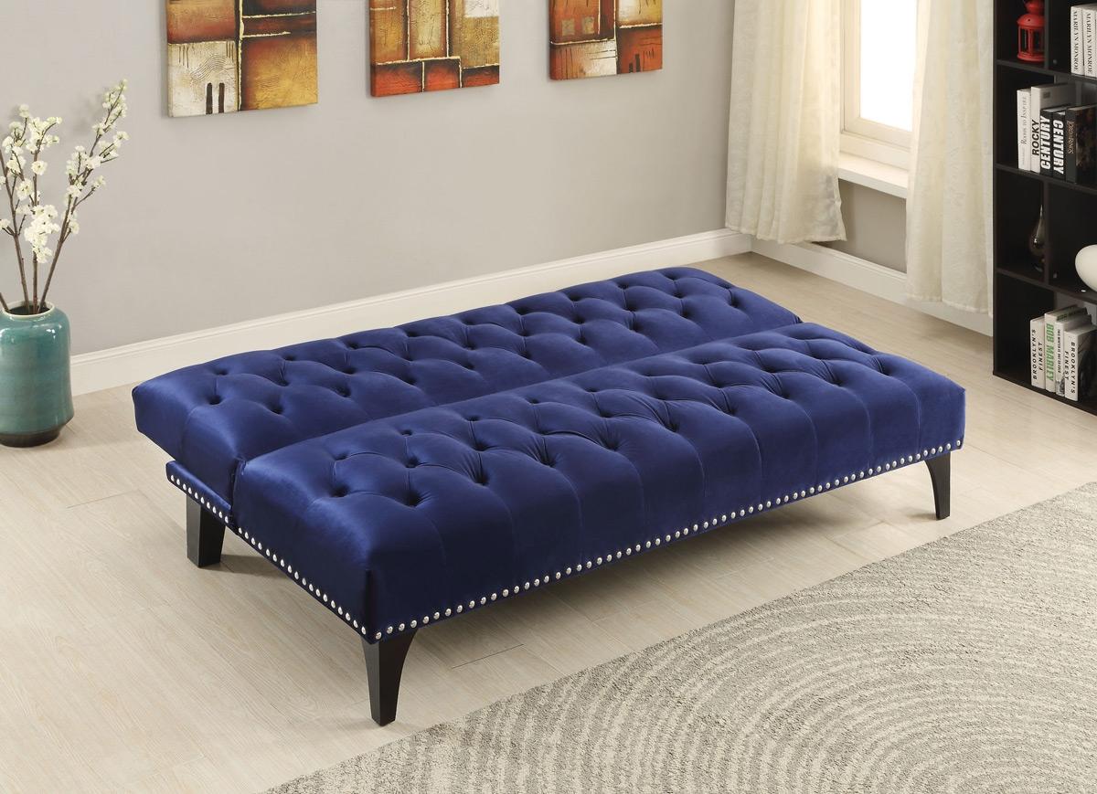 Velvet Tufted Sofa Ava Velvet Tufted Sleeper Sofa Urban With Affordable Tufted Sofa (View 12 of 15)