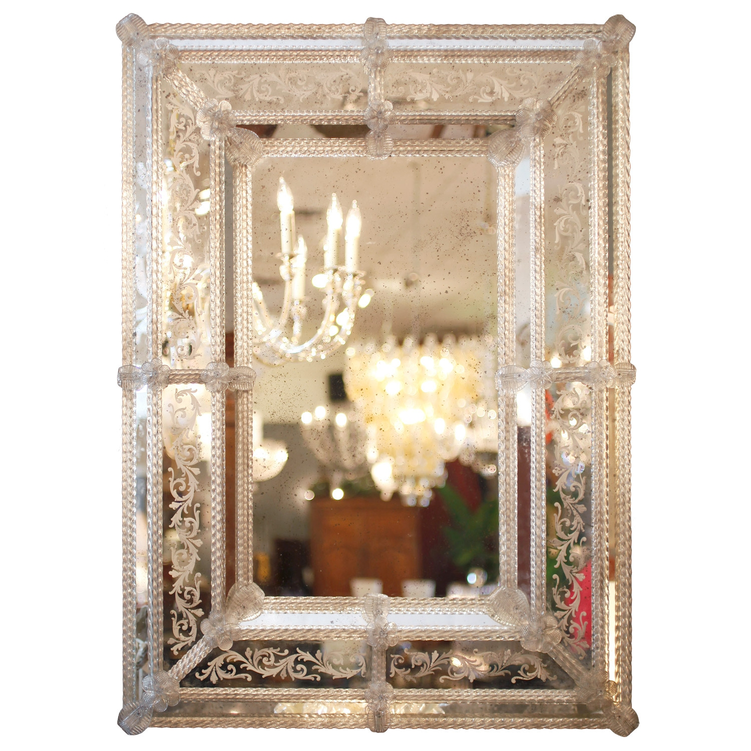 Venetian Etched Glass Mirror Jean Marc Fray In Venetian Etched Glass Mirror (Image 13 of 15)