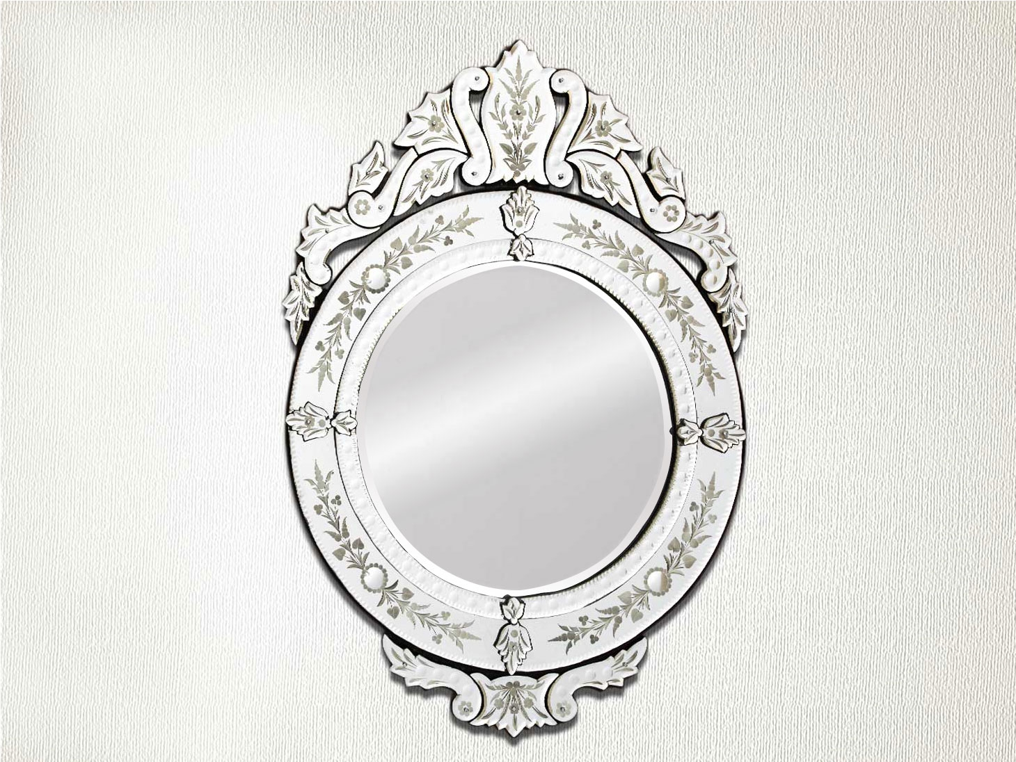 Venetian Mirror 3625 Inches X 255 Inches Throughout Round Venetian Mirror (Image 11 of 15)