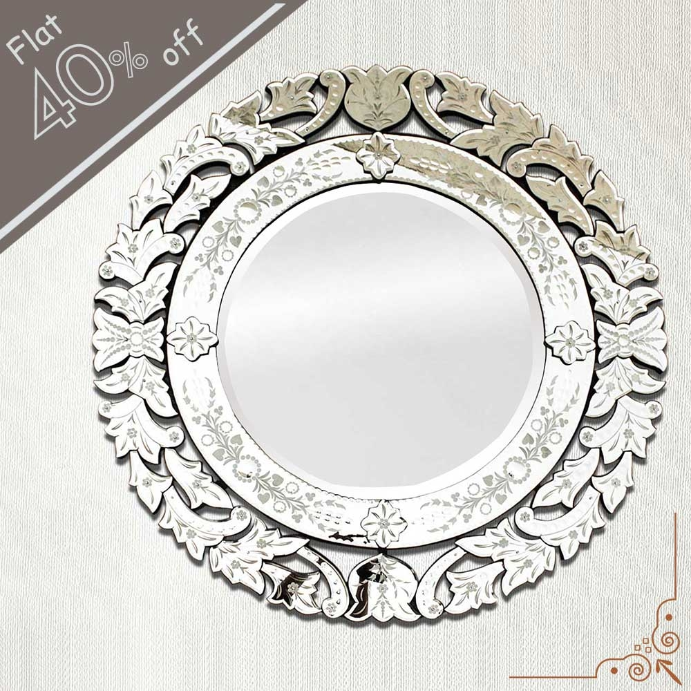 Venetian Mirror 48 Inches Throughout Round Venetian Mirror (Image 12 of 15)