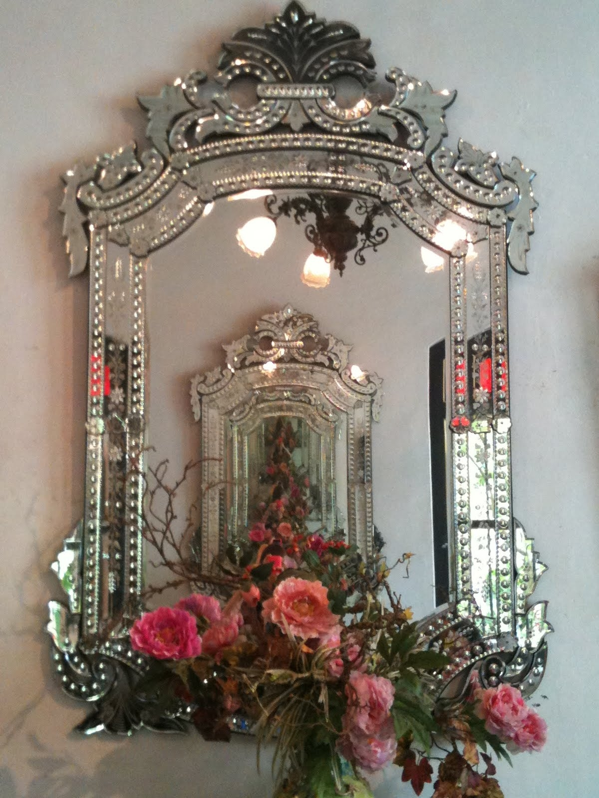 Venetian Mirror Ami The Prettiest Asked The Rose Ohhhh I Love With Regard To Antique Venetian Mirrors For Sale (Image 15 of 15)