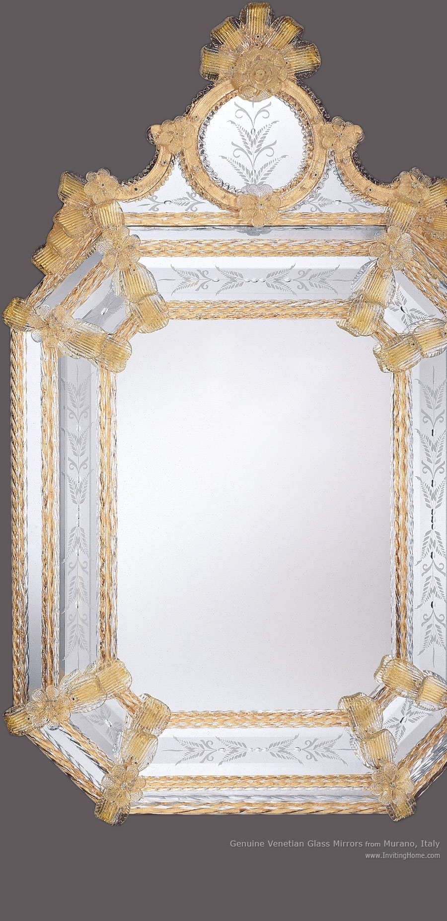 Venetian Mirror And Venetian Murano Glass Mirror For Gold Venetian Mirror (Image 12 of 15)