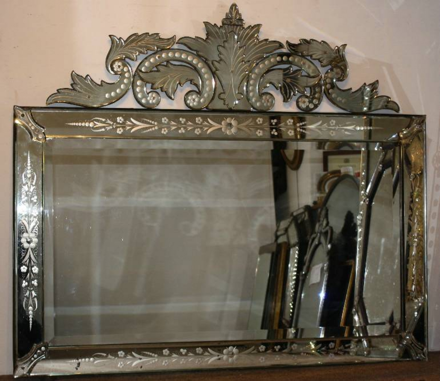 Venetian Mirror Intended For Venetian Mirror Antique (Image 14 of 15)