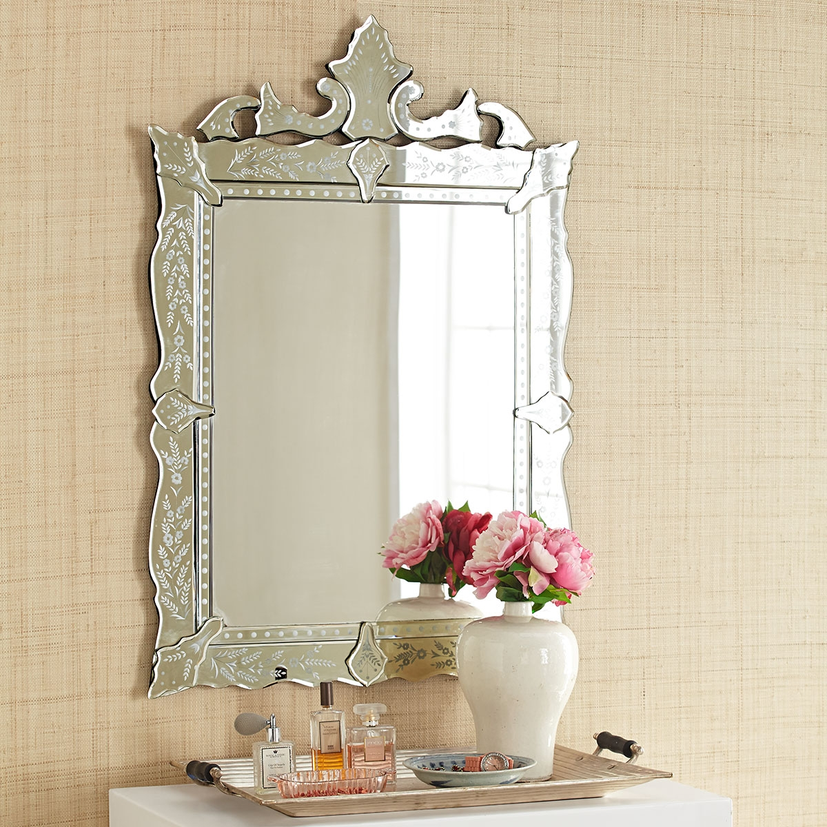 Venetian Mirror With Small Venetian Mirrors (Image 12 of 15)