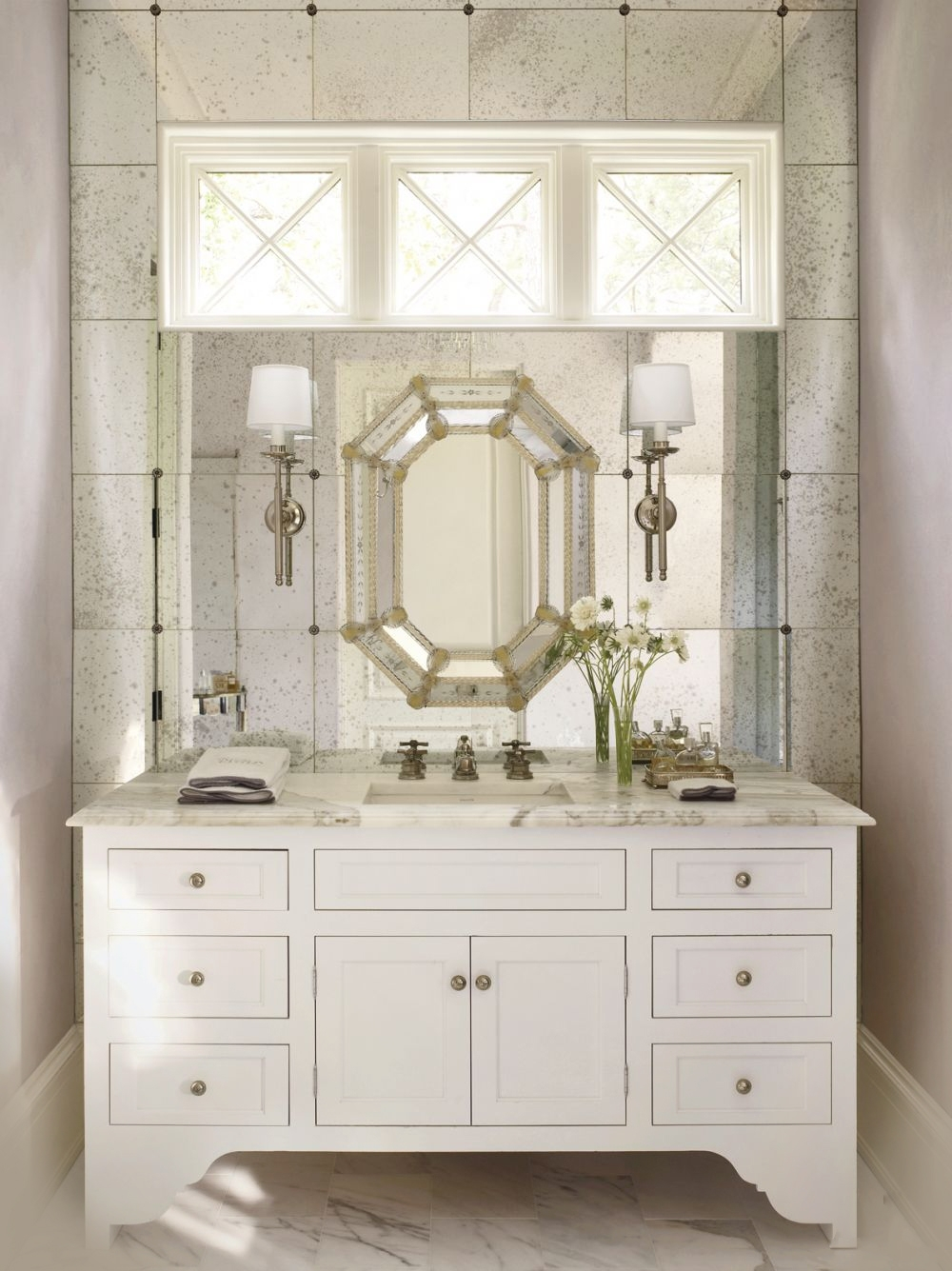 15 Photos Venetian Bathroom Mirrors | Mirror Ideas
