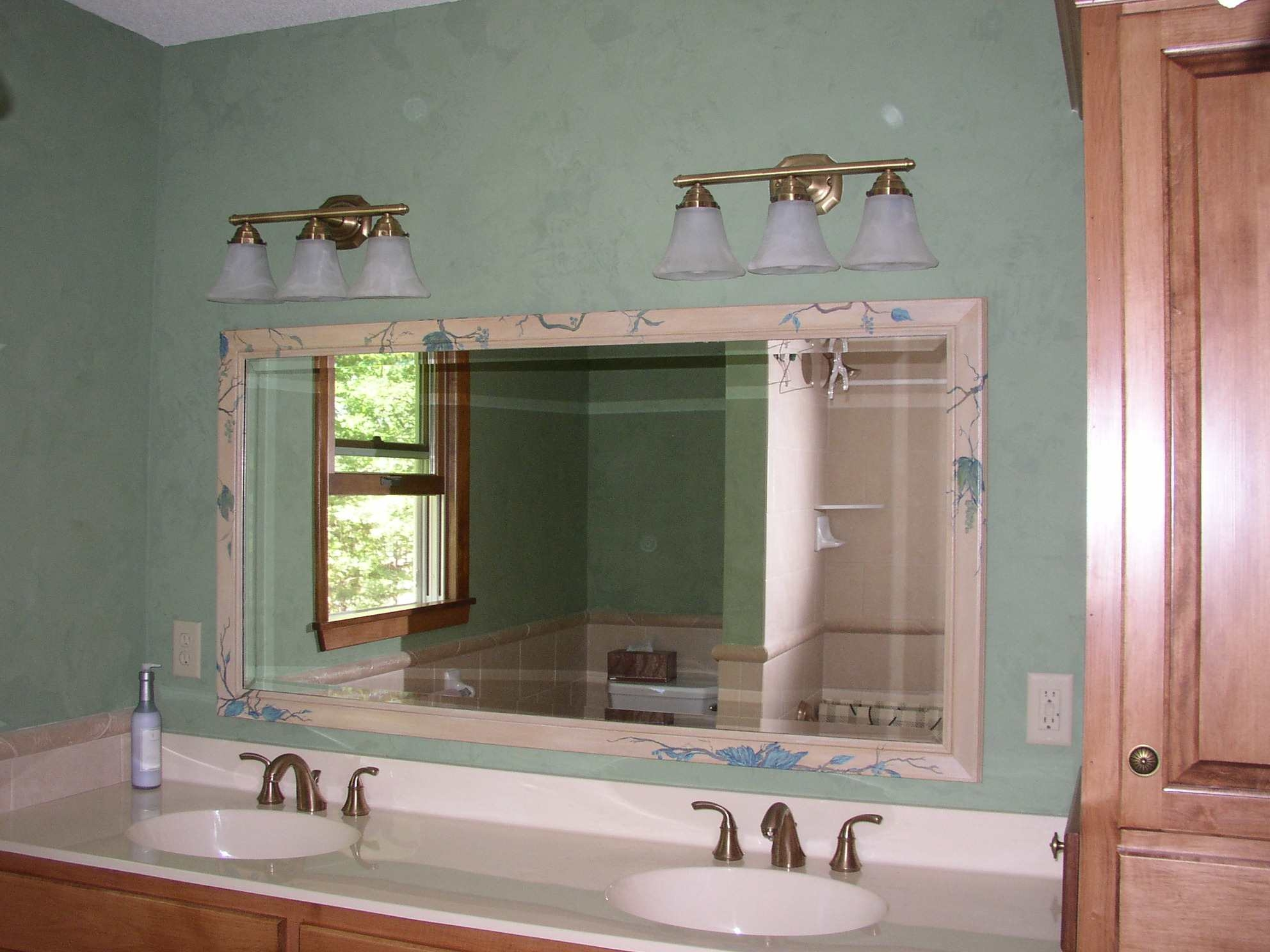 Venetian Plaster Bathroom With Mirror Embellishment Mn Artists Pertaining To Venetian Bathroom Mirror (Image 15 of 15)