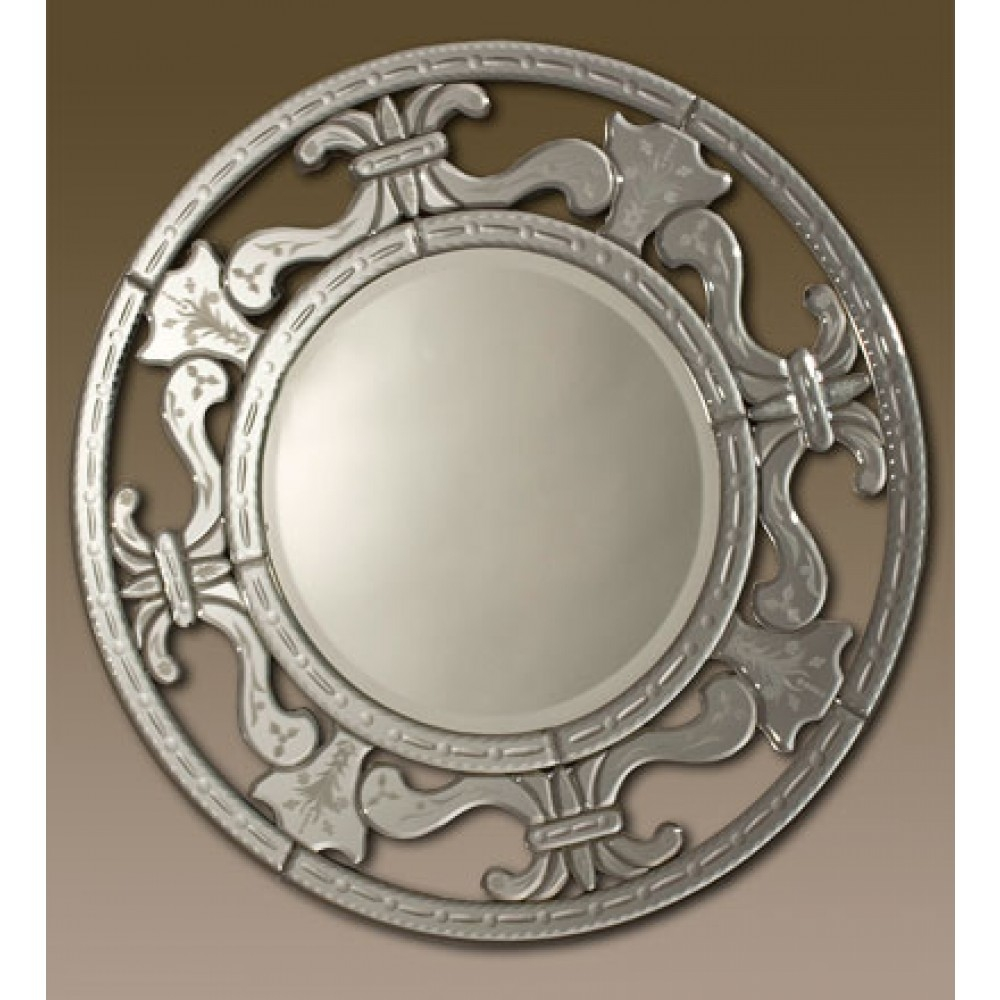 Venetian Round Mirror From Ornamental Mirrors Limited Intended For Ornamental Mirrors (Image 13 of 15)
