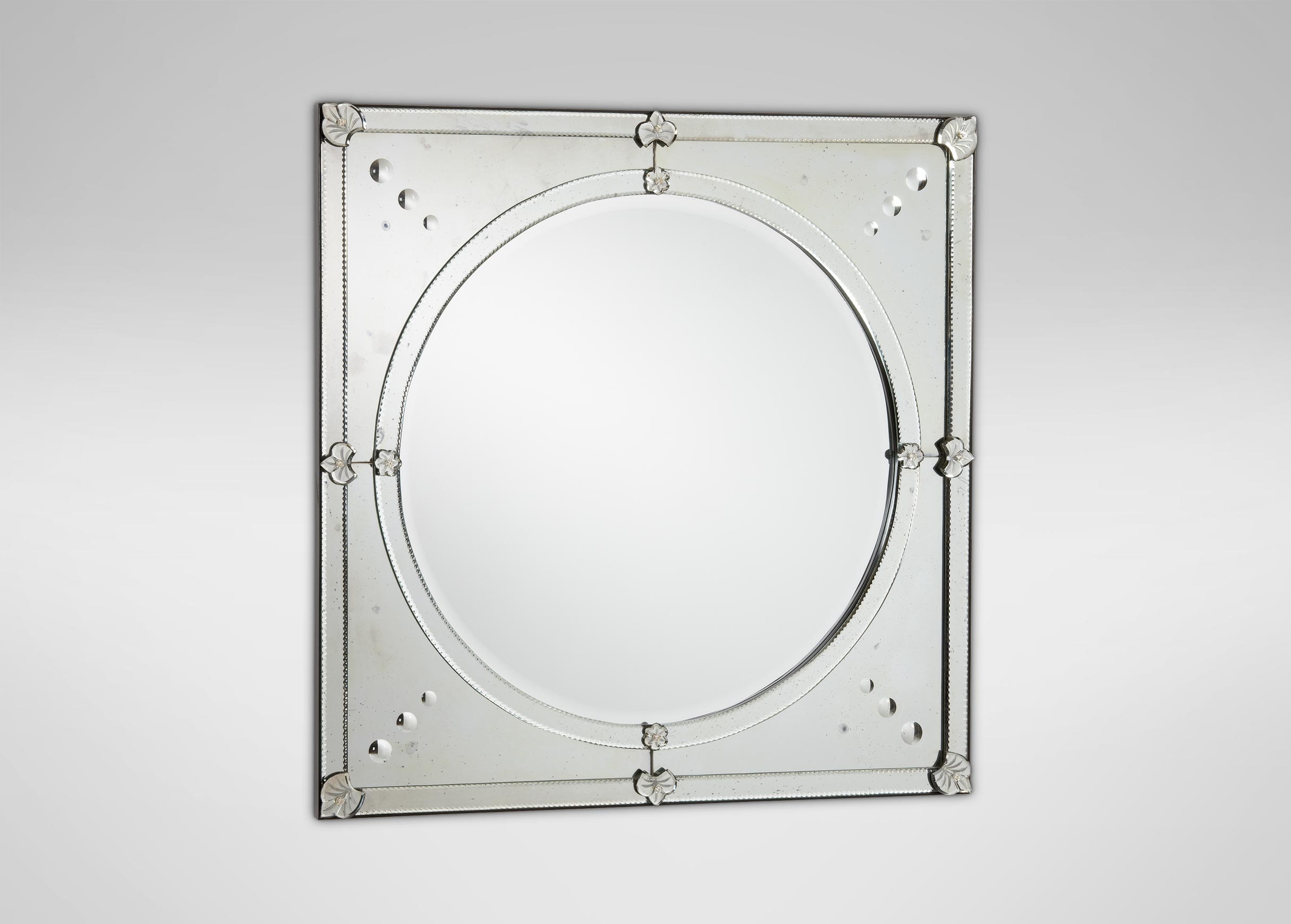 Venetian Round Mirror From Ornamental Mirrors Limited Pertaining To Ornamental Mirrors (Image 14 of 15)