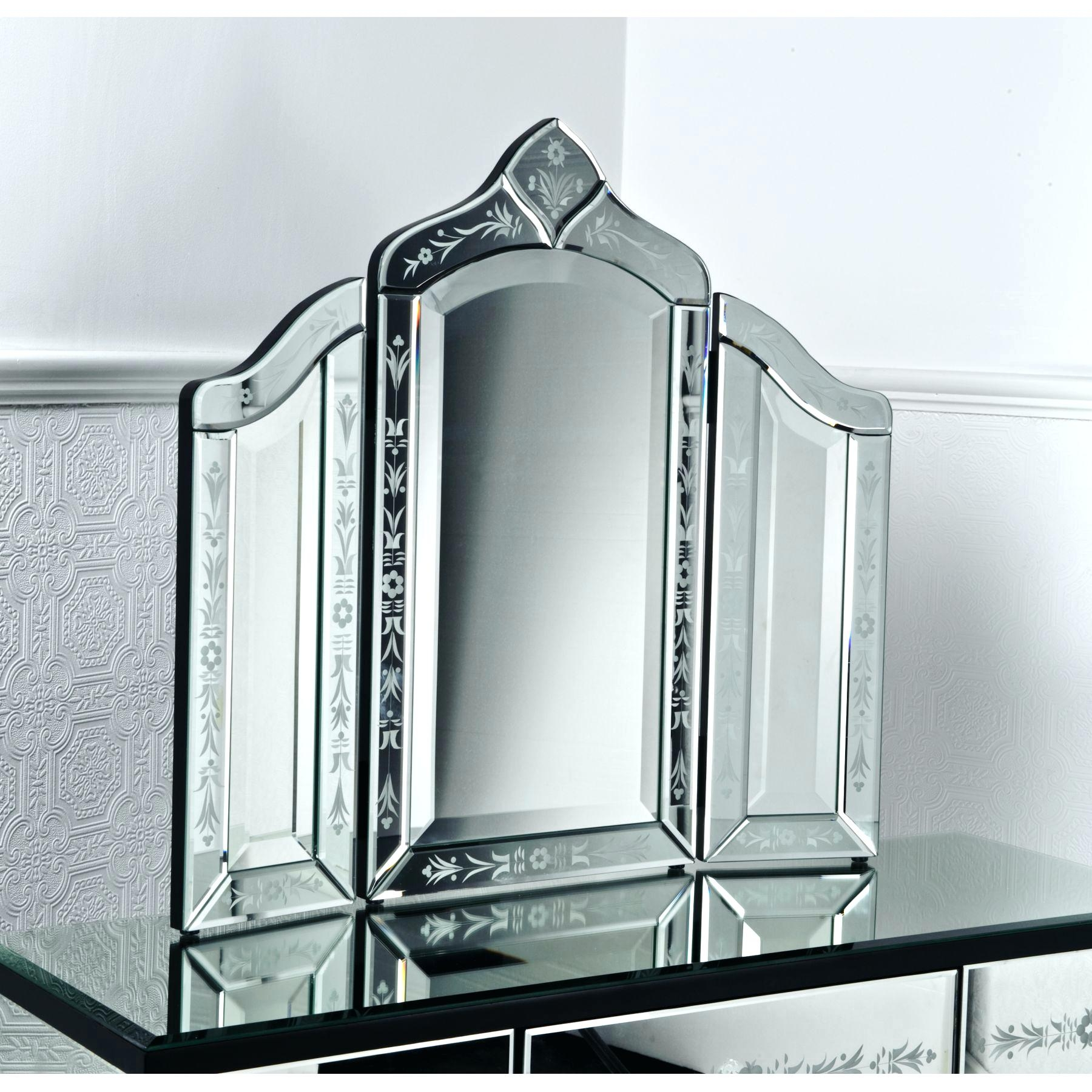 Venetian Style Dressing Table Mirror Silver Shopwiz With Regard To Venetian Dressing Table Mirrors (Image 14 of 15)