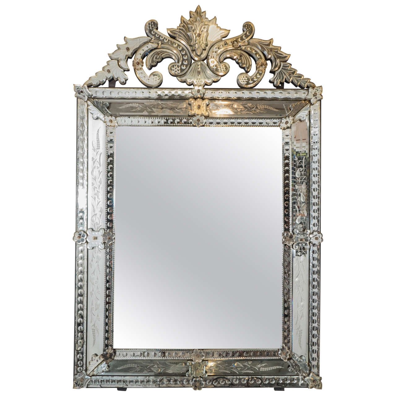 Venetian Wall Mirror Wall Shelves For Venetian Wall Mirror (Image 13 of 15)