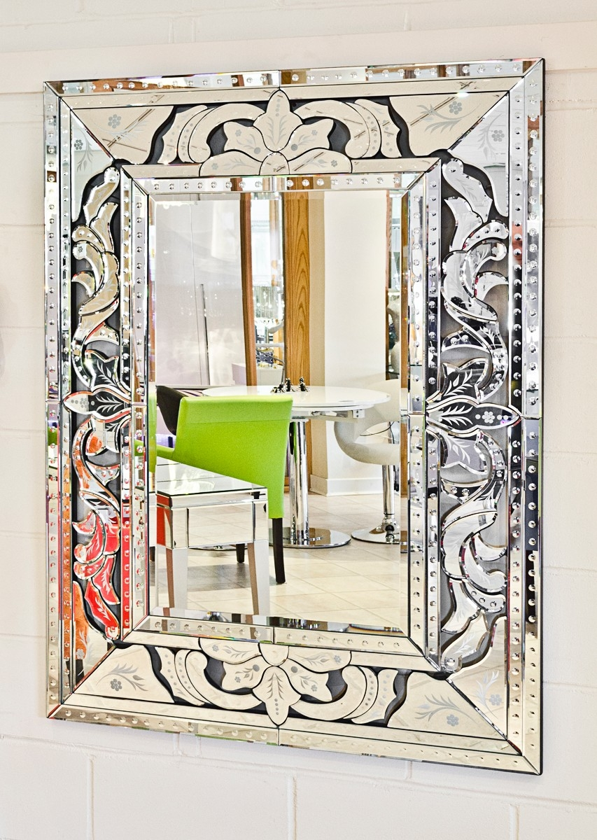 Venetian Wall Mirror Wall Shelves Pertaining To Venetian Wall Mirror (Image 14 of 15)