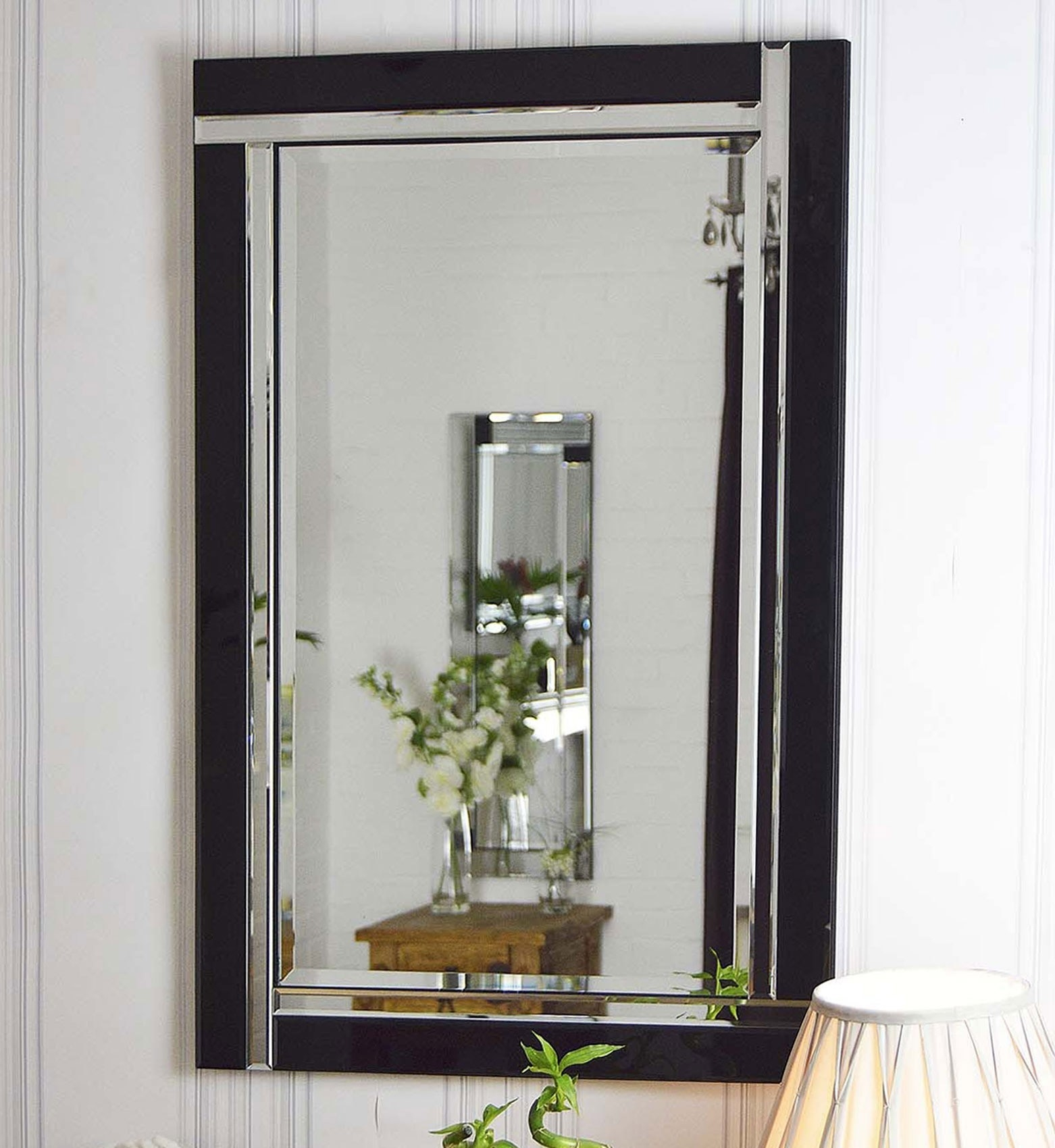 Venetianframeless Mirrors Category Intended For Black Bevelled Mirror (Image 14 of 15)