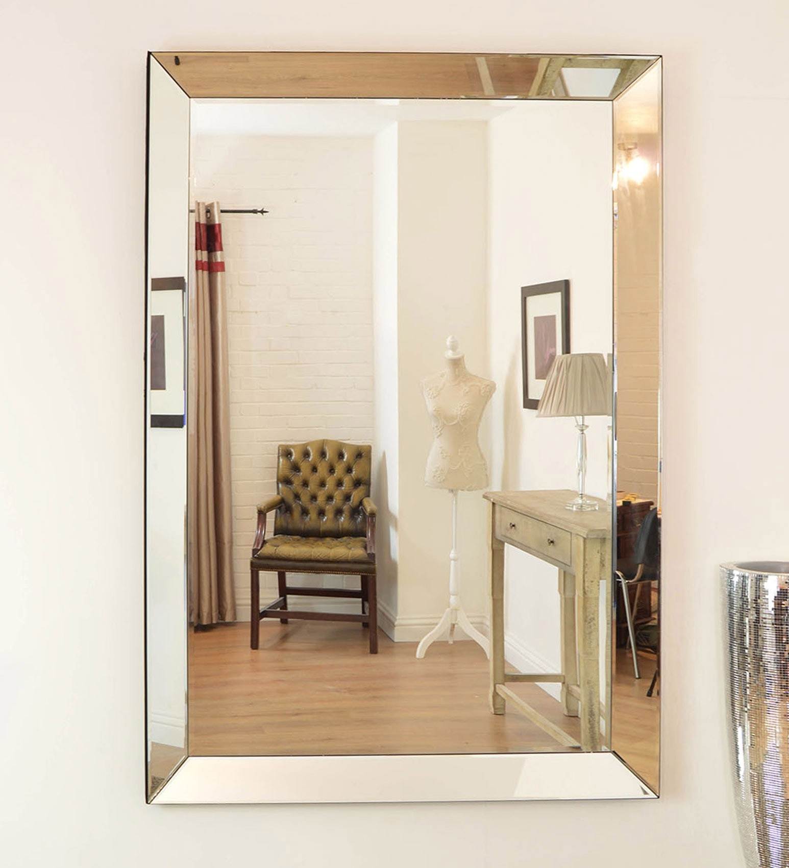 Venetianframeless Mirrors Category With Large Frameless Wall Mirrors (Photo 7 of 15)
