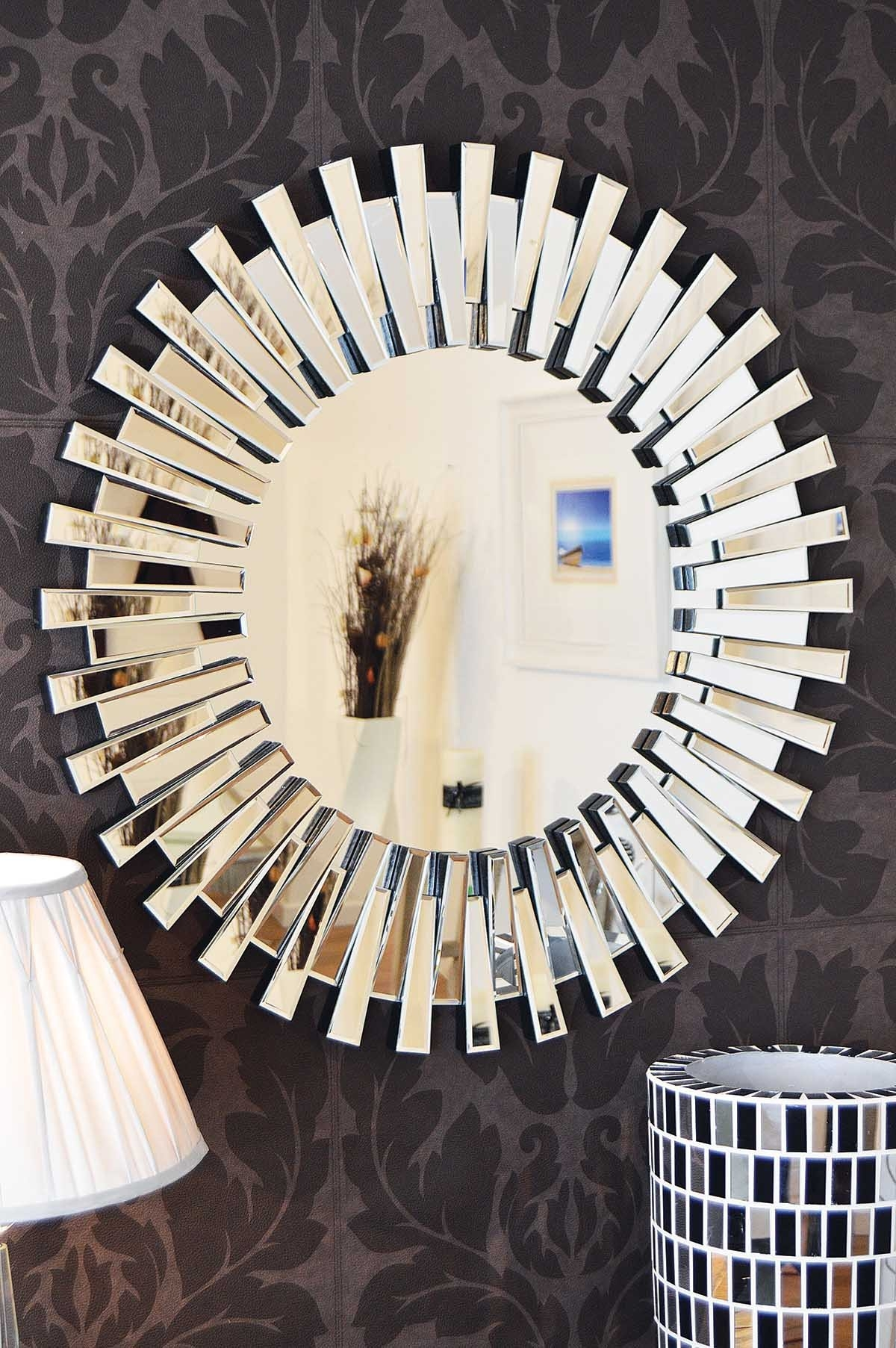Venetianframeless Mirrors Category With Round Venetian Mirror (Image 15 of 15)