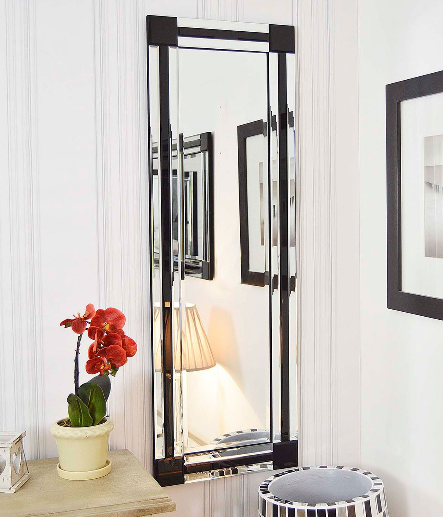 Venetianframeless Mirrors Category Within Black Bevelled Mirror (Image 15 of 15)