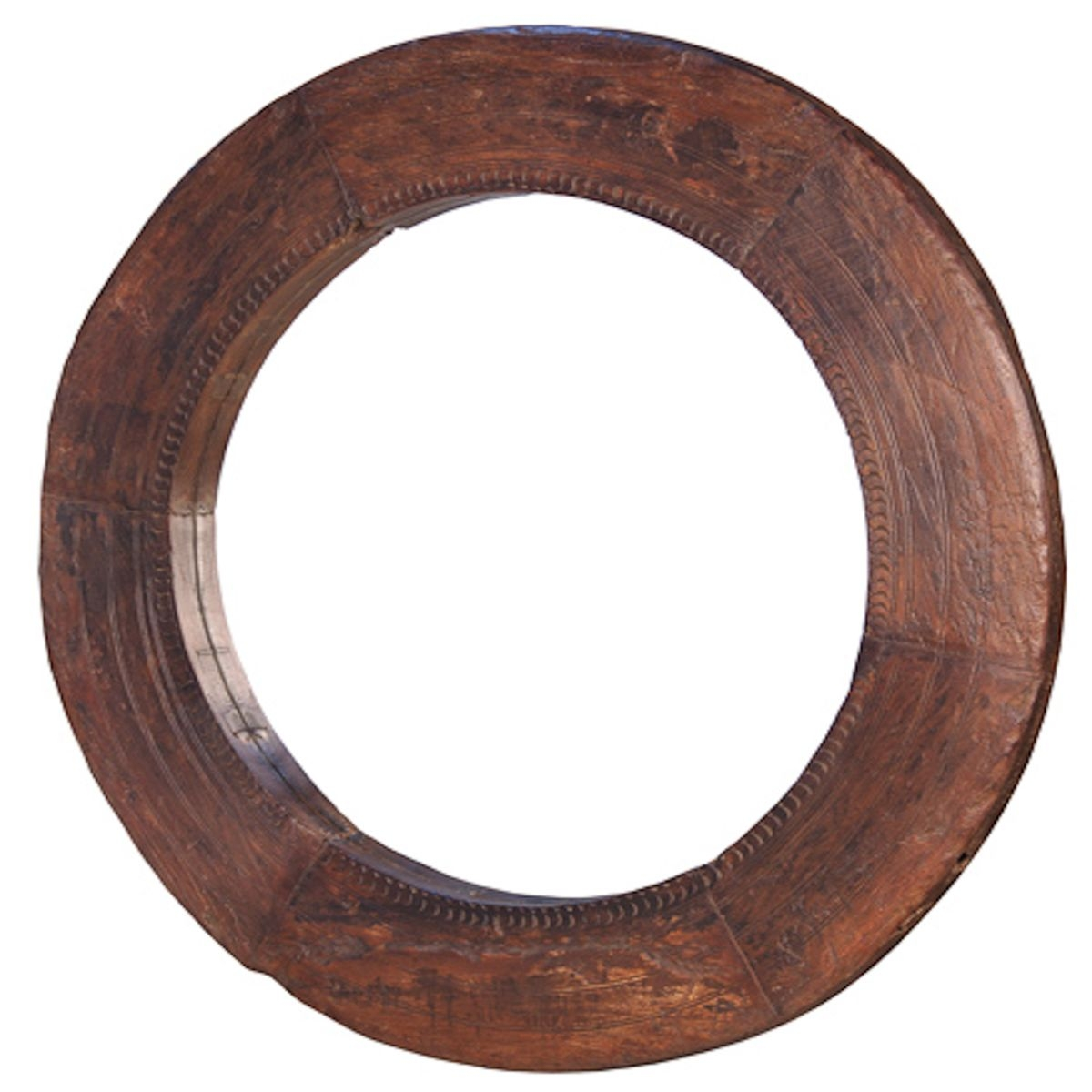 Ver 1 000 Bilder Om Misc Mirrors P Pinterestsnickeri Vintage Within Large Round Wooden Mirror (Image 15 of 15)